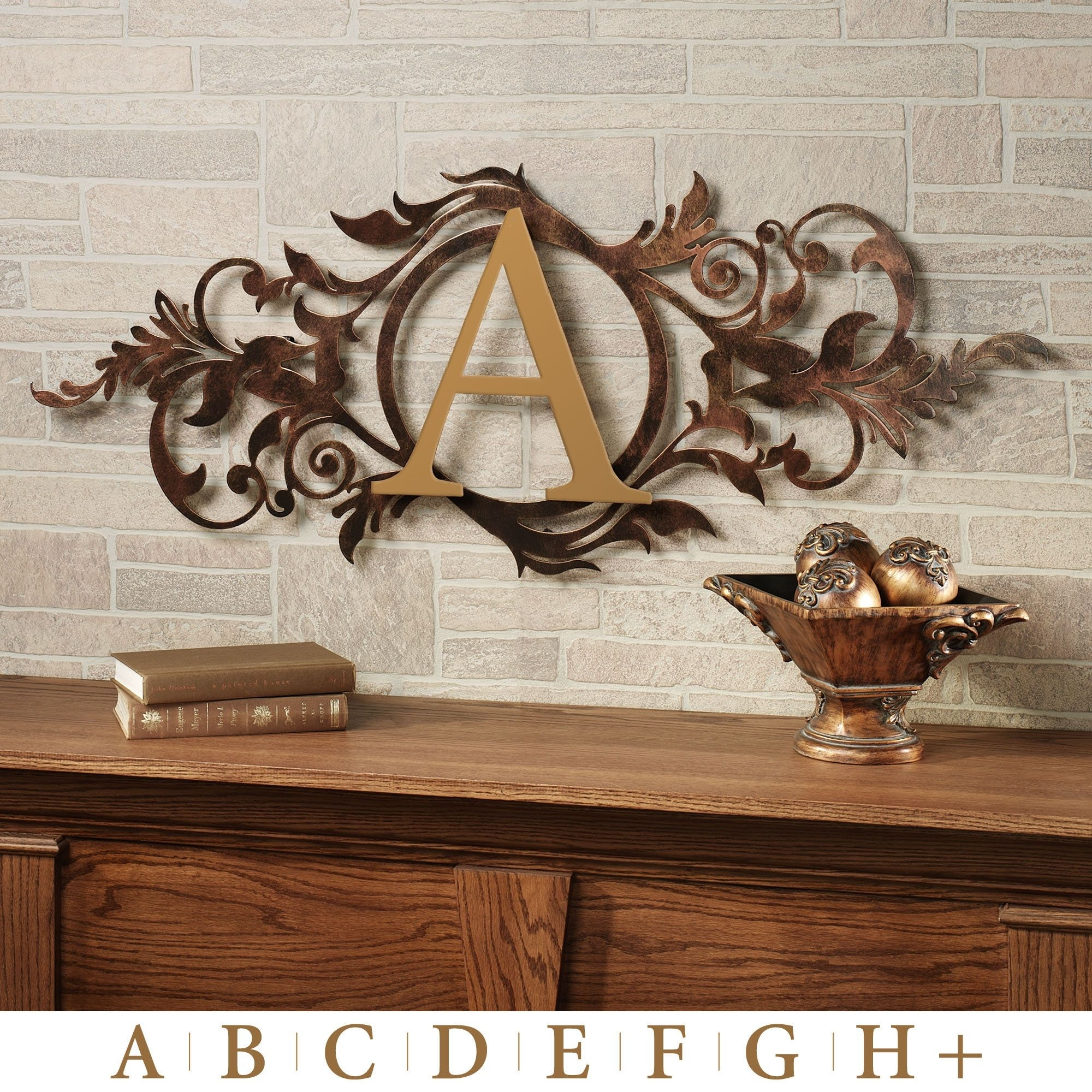 Meglynn Monogram Horizontal Metal Wall Art Sign | Horizontal Wall Throughout Most Up To Date Horizontal Wall Art (View 9 of 20)