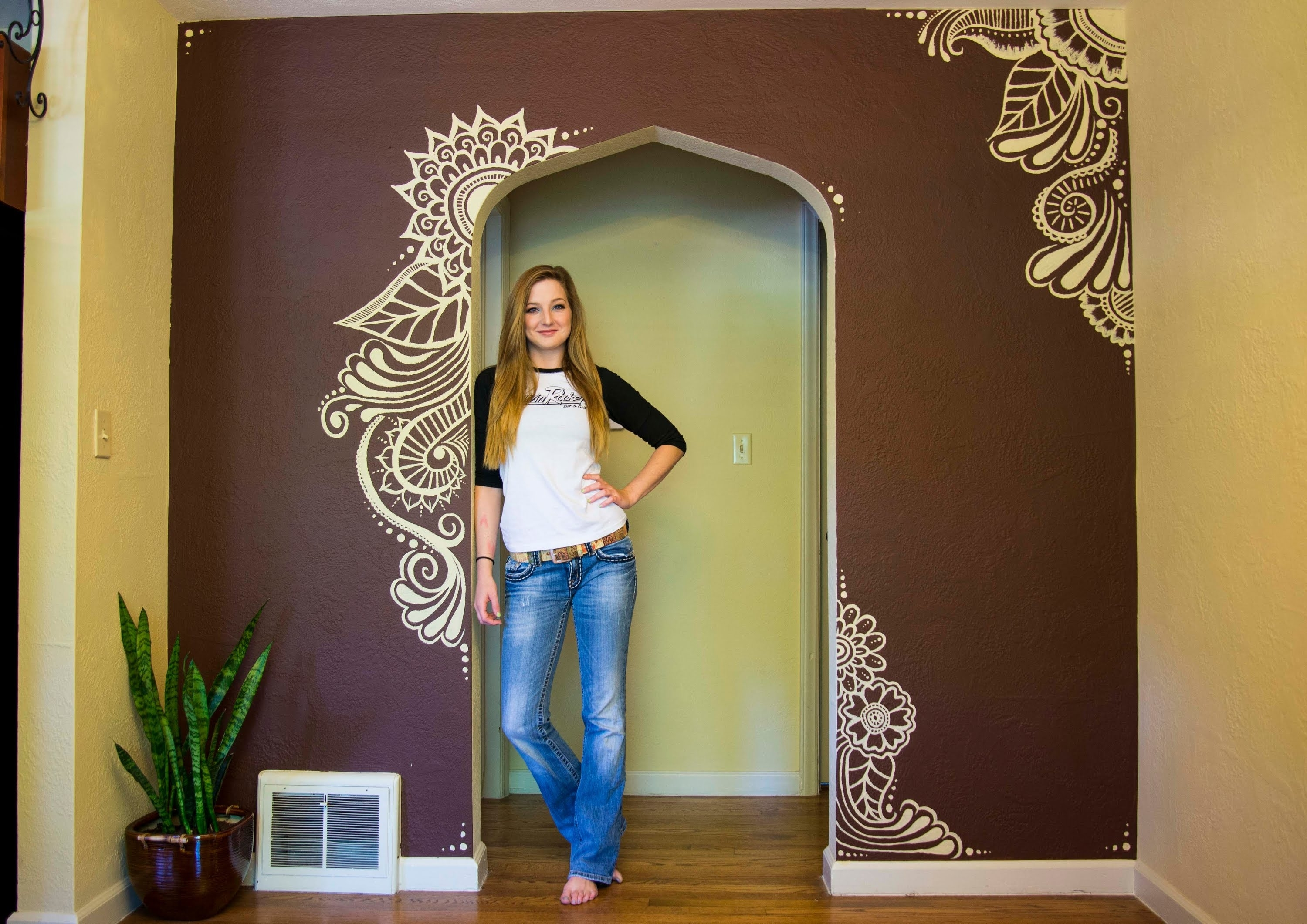 Mehndi Wall Paint – I Moved! – Youtube In Most Recent Henna Wall Art (Gallery 13 of 20)