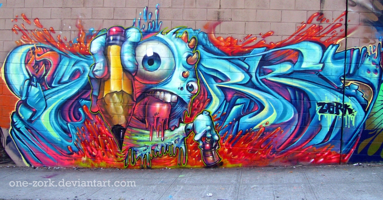 Melted Boi Graffitithezork On Deviantart Regarding Most Up To Date Graffiti Wall Art (View 13 of 20)