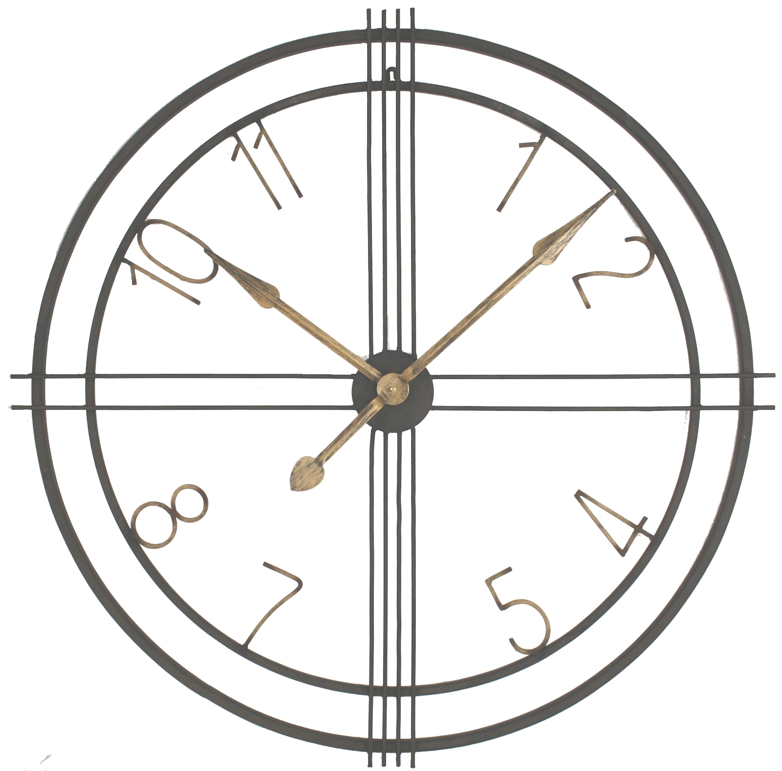 Metal Art Deco Style Wall Clock, Scarthingwell – Wholesale Home Pertaining To Latest Art Deco Wall Clock (View 17 of 20)