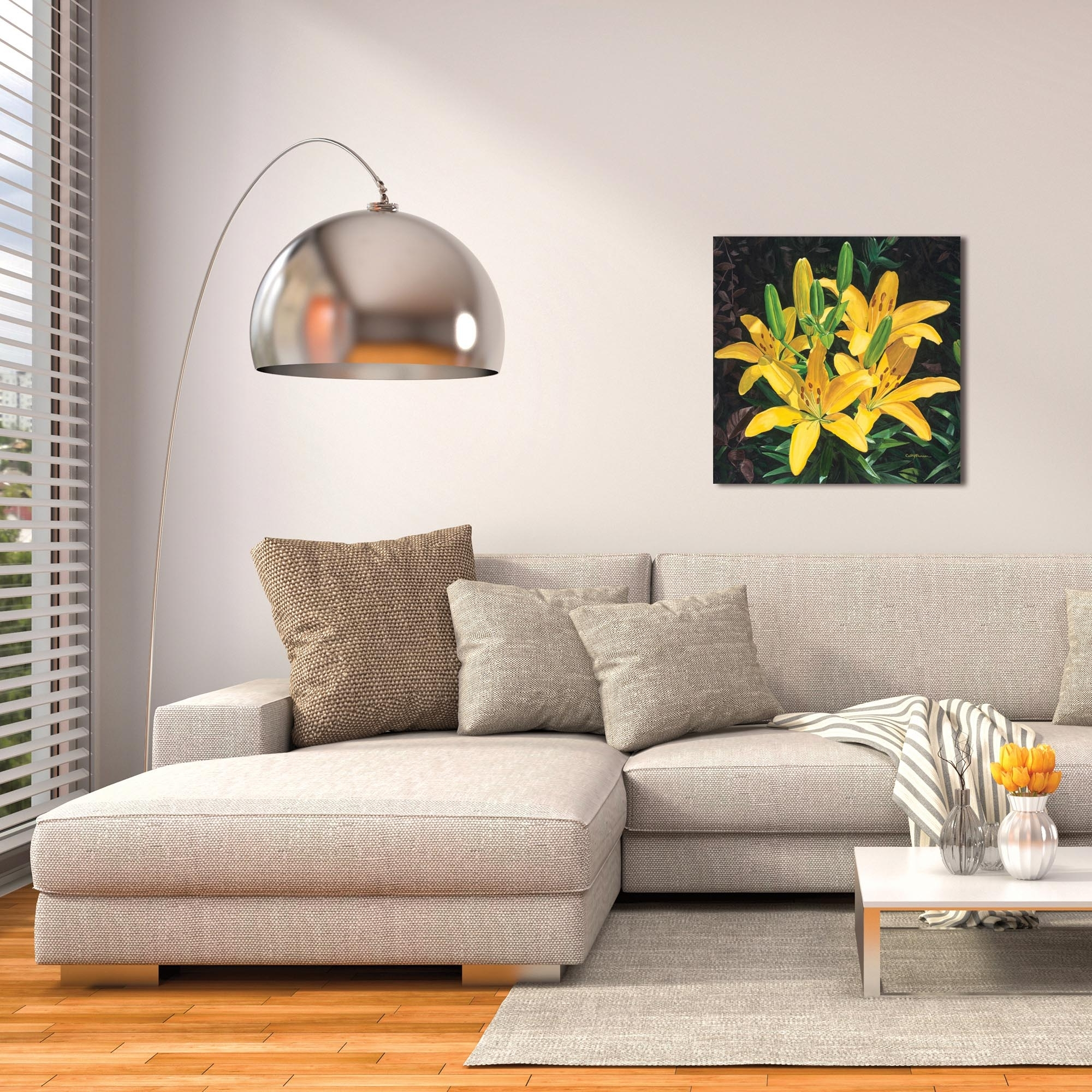 Metal Art Studio – Yellow Liliescathy Pearson – Traditional Wall In Newest Traditional Wall Art (View 11 of 15)