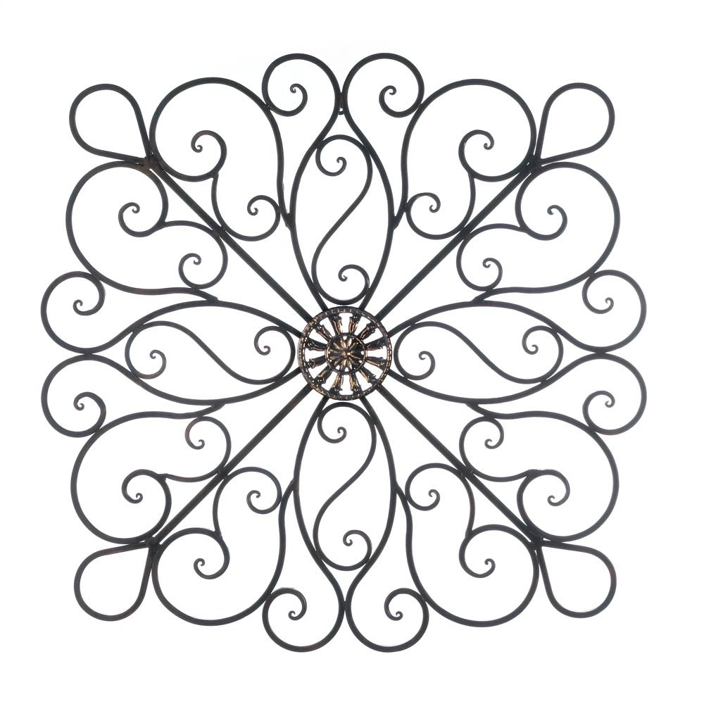 Metal Art Wall Decor, Scrollwork Modern Decorative Wrought Iron Wall Inside Most Up To Date Decorative Wall Art (Gallery 12 of 20)