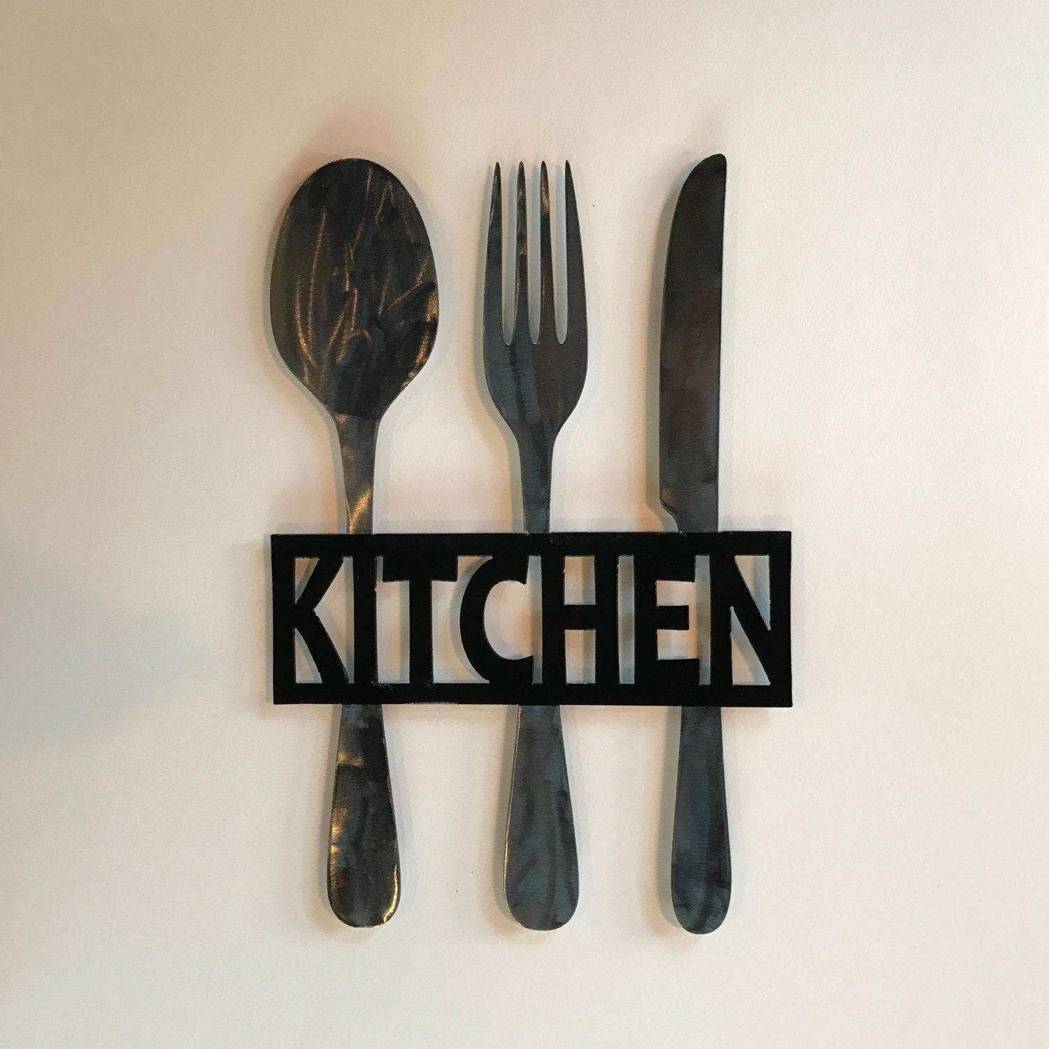 Metal Fork And Spoon Wall Art New 20 Best Big Spoon And Fork Wall For Most Popular Fork And Spoon Wall Art (Gallery 1 of 20)