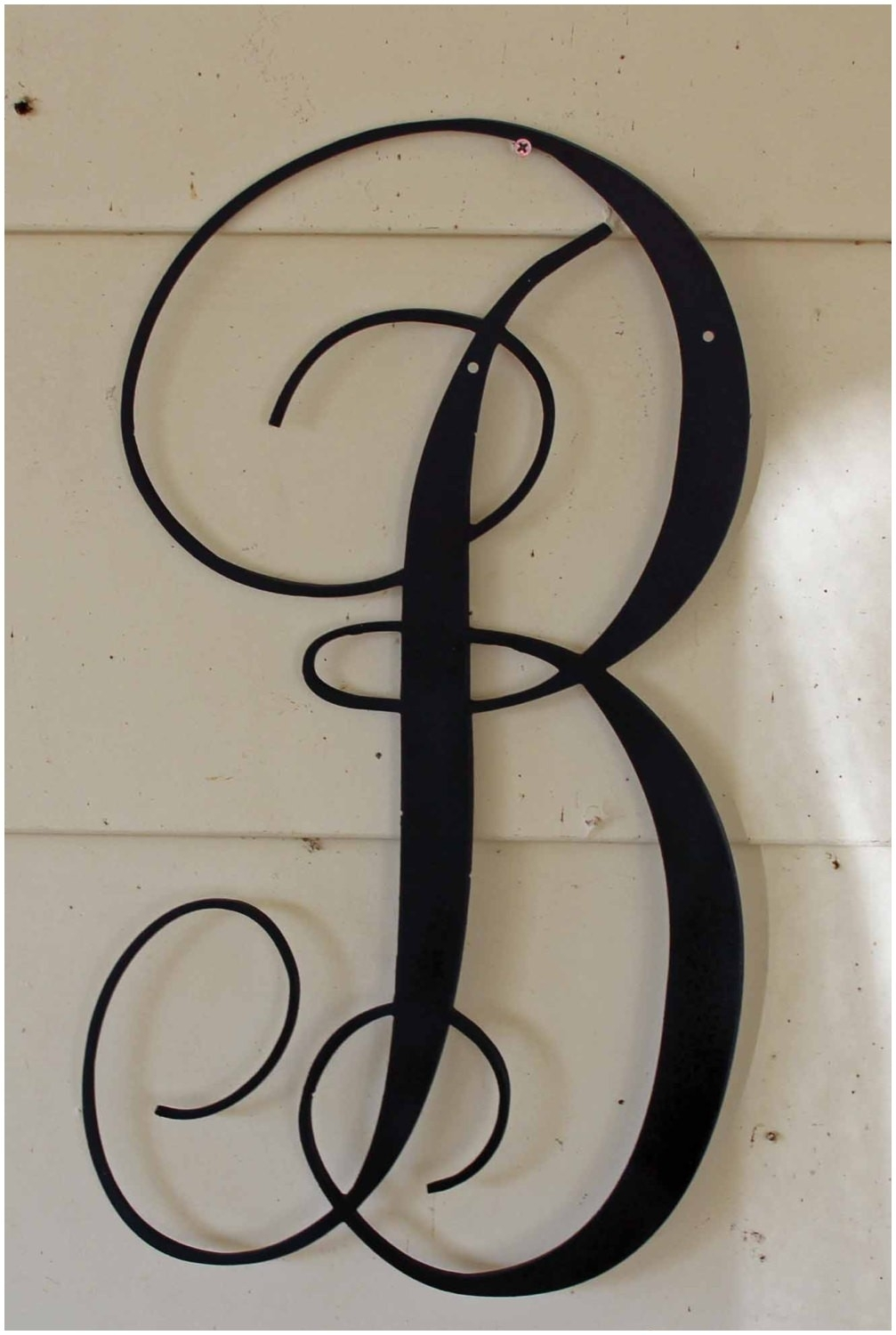 Metal Letter Wall Art 22 Inch Black Script Metal Letter B Door Or In Most Current Metal Letter Wall Art (View 13 of 20)