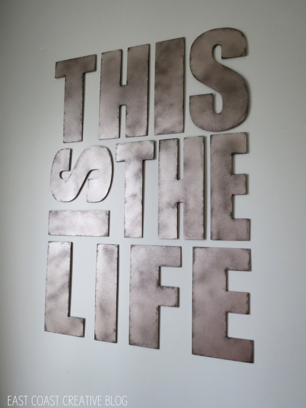 Metal Letter Wall Art – Elitflat In Newest Metal Letter Wall Art (View 13 of 20)