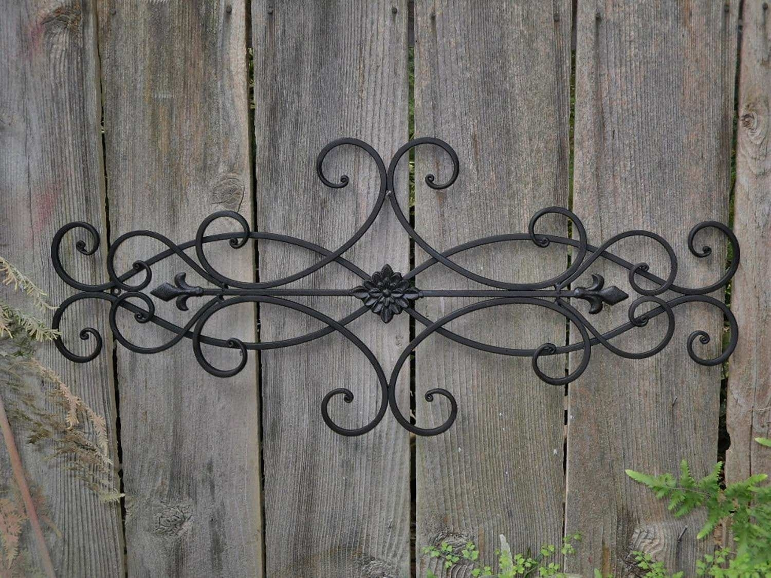 Metal Outdoor Wall Decor Elegant Good Outdoor Wall Art Wrought Iron Pertaining To Newest Metal Outdoor Wall Art (View 10 of 20)