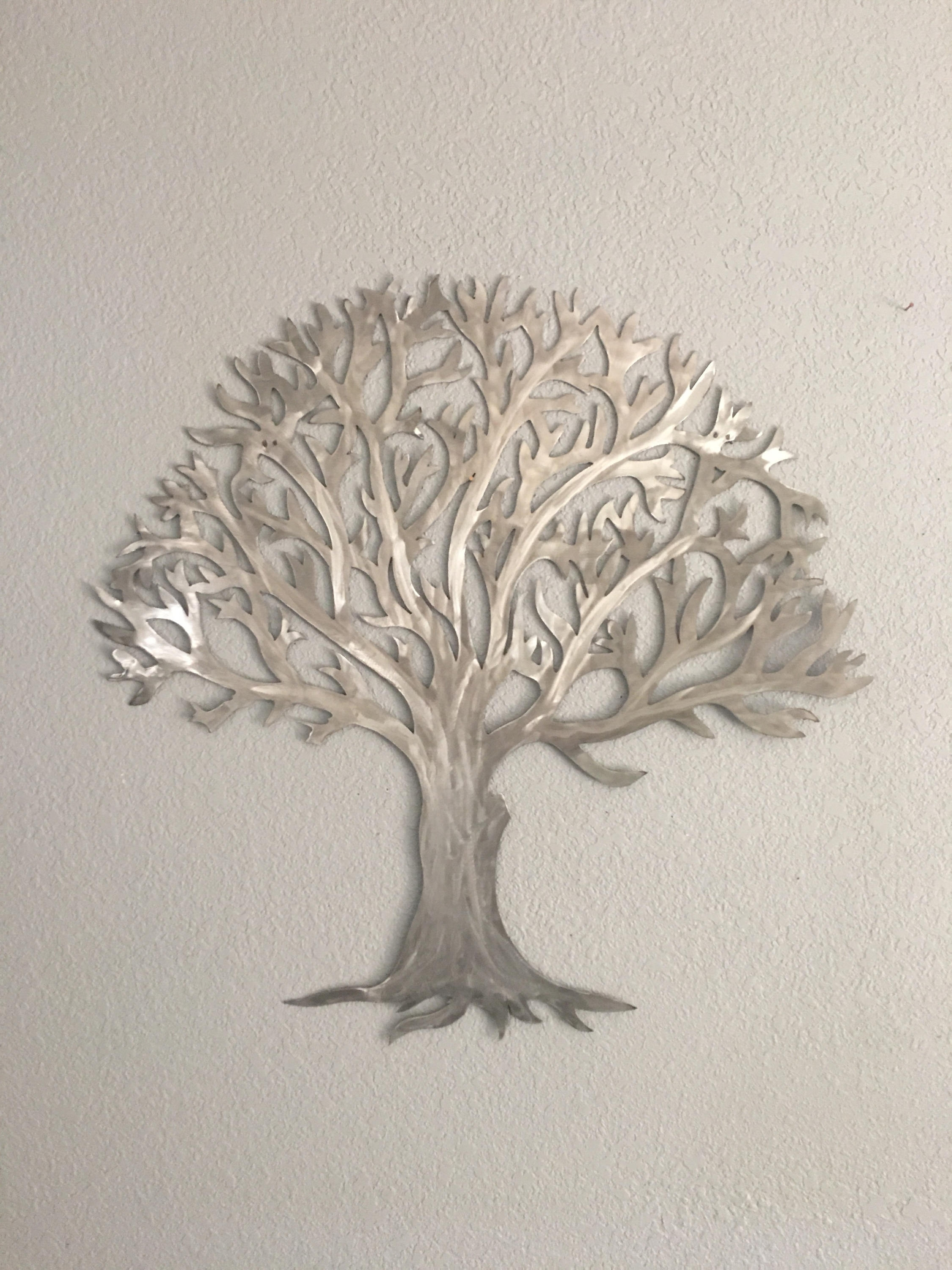 Metal Tree Stainless Steel Tree  Wall Art  Wall Decor For 2018 Metal Tree Wall Art (View 11 of 15)