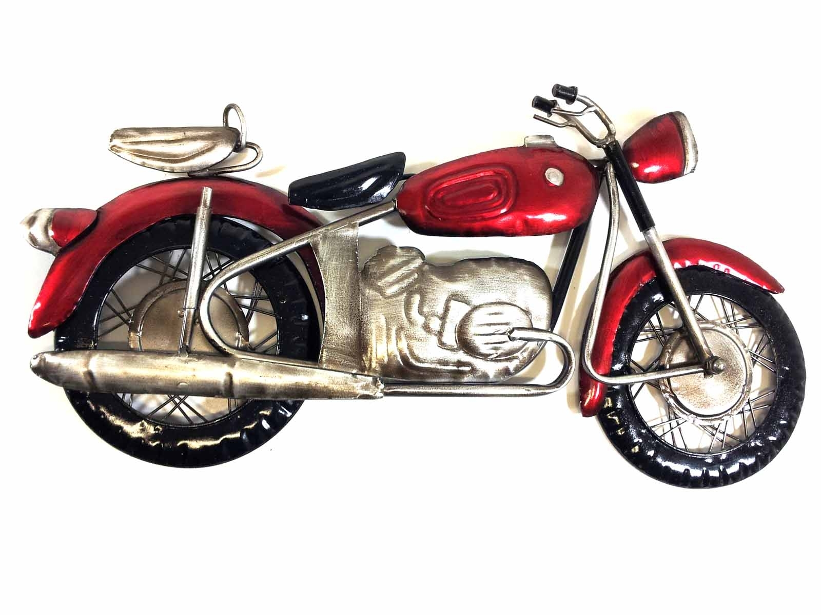 Metal Wall Art – Red Motorcycle Inside Most Recently Released Motorcycle Wall Art (View 12 of 20)