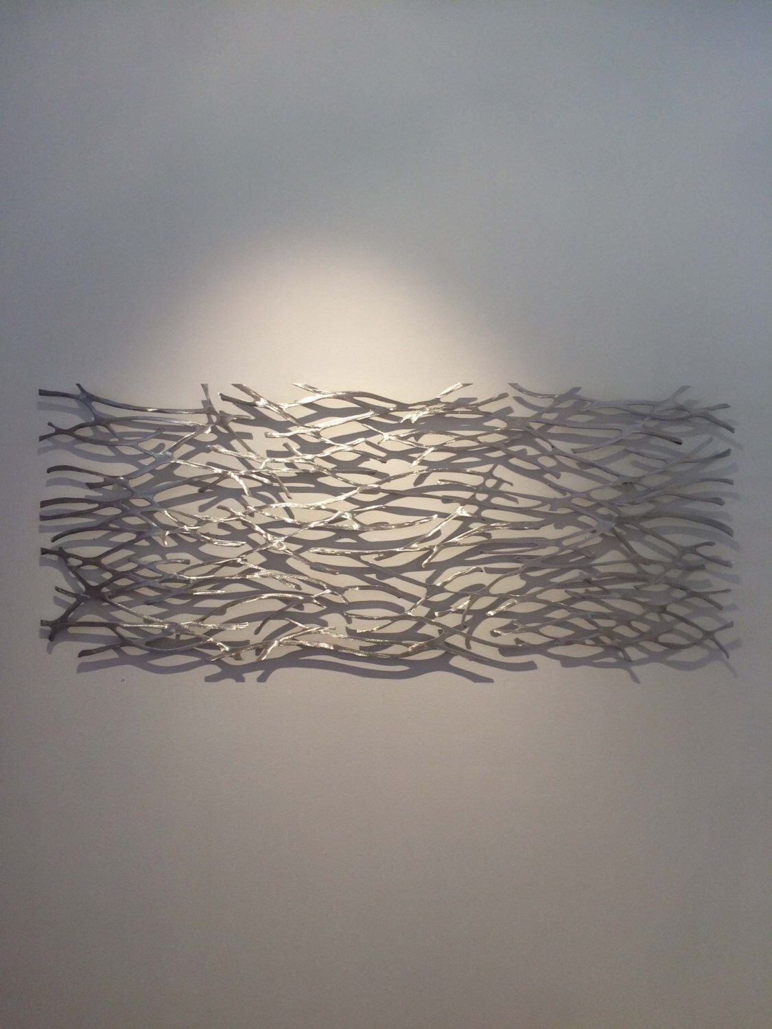 Metal Wall Art. Sculpture. Abstract. Wall Sculpture. Metallic (View 4 of 20)