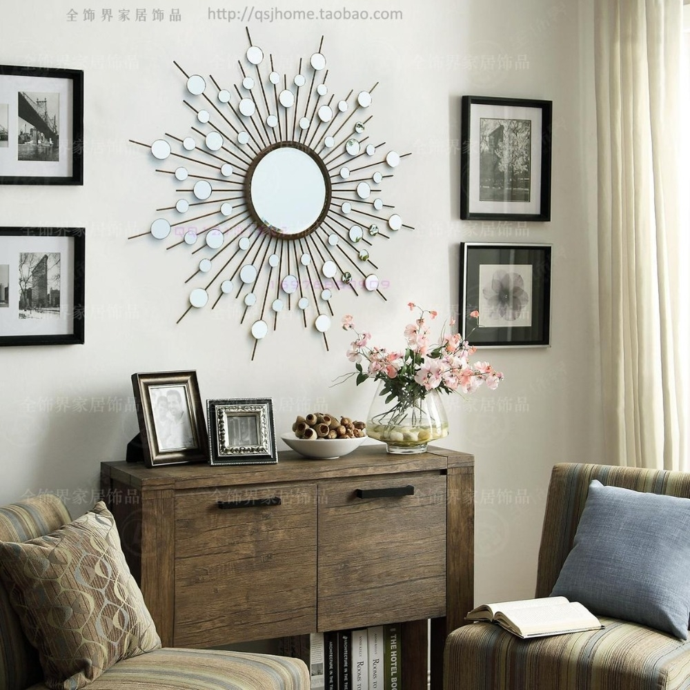 Metal Wall Mirror Decor Modern Mirrored Wall Art Wire Wall Art Regarding Most Recently Released Wall Art Decors (View 10 of 15)