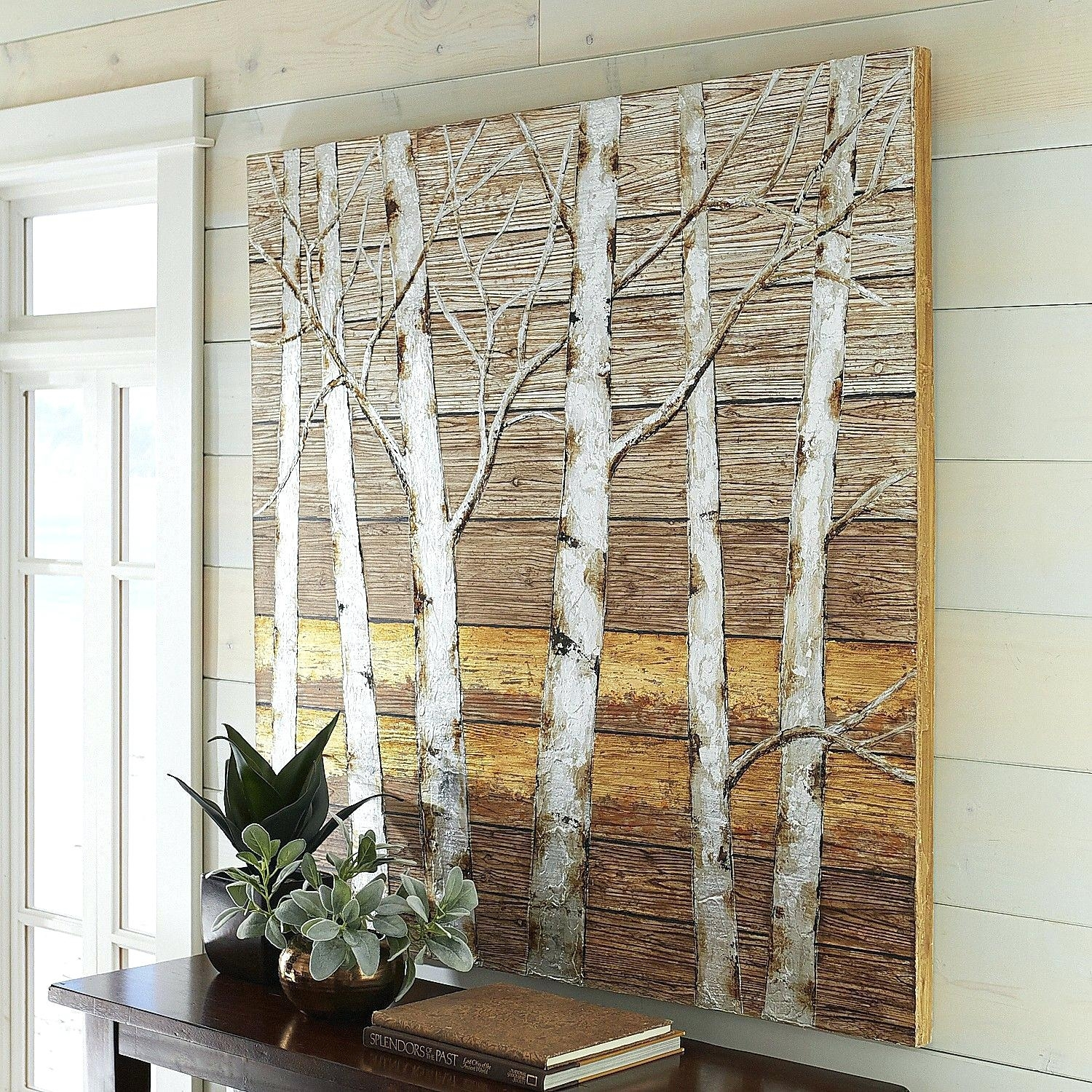 Metallic Birch Trees Wall Art Pier 1 Imports One Decor Pertaining To 2017 Pier 1 Wall Art (Gallery 8 of 20)