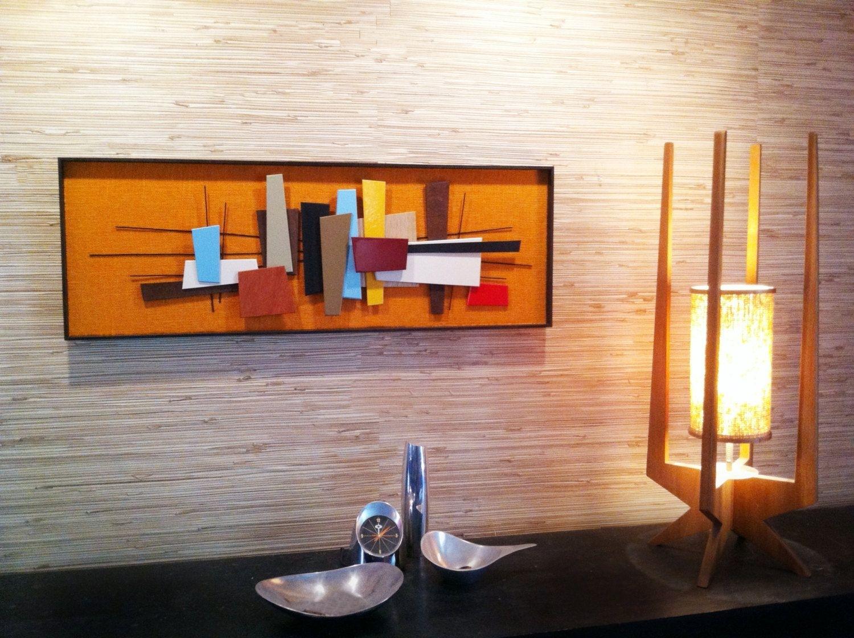 Mid Century Modern Abstract Wall Art Sculpture Painting Retro Eames Regarding 2017 Mid Century Wall Art (View 2 of 20)