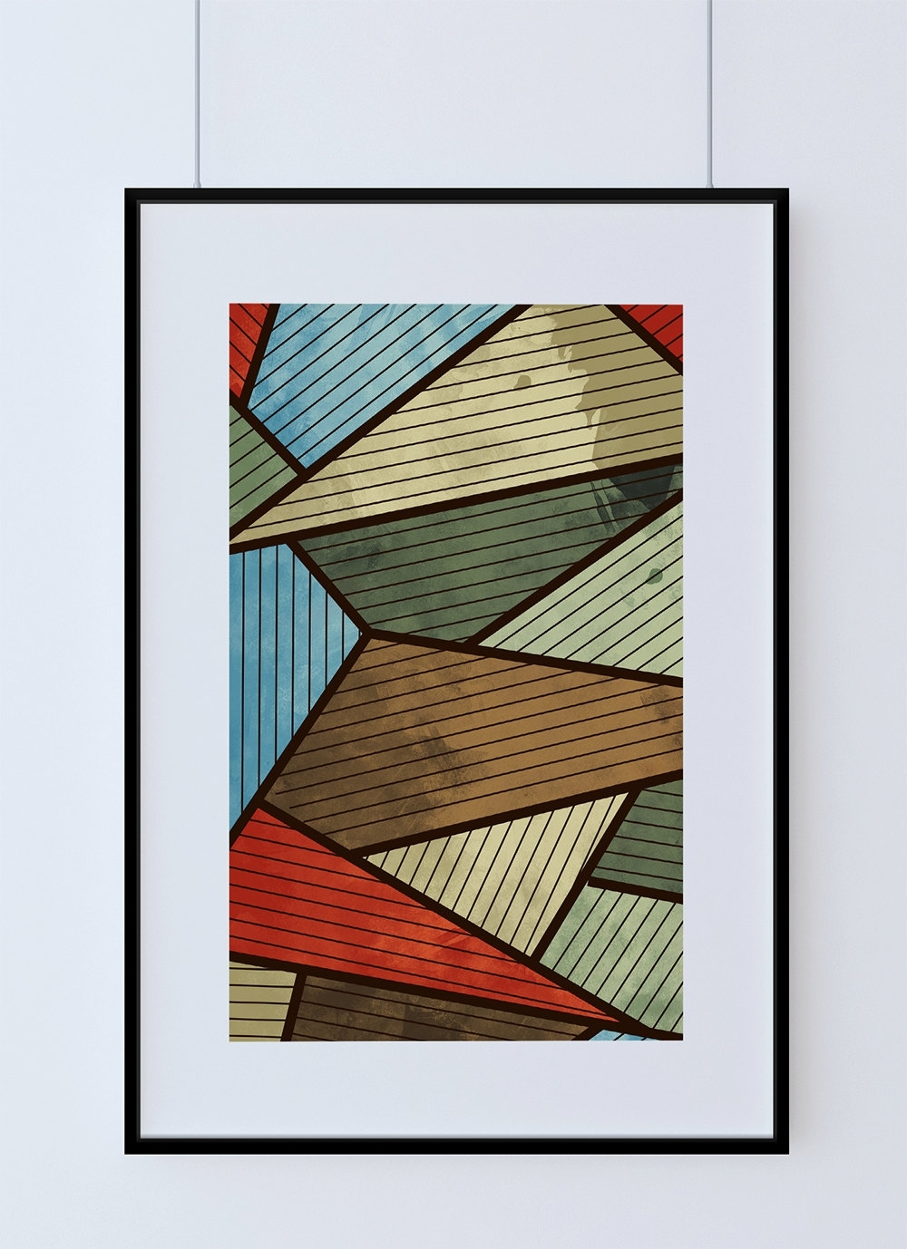 Mid Century Modern Print Abstract Art Print Poster Giclee On Cotton Regarding Most Recent Mid Century Modern Wall Art (View 8 of 20)
