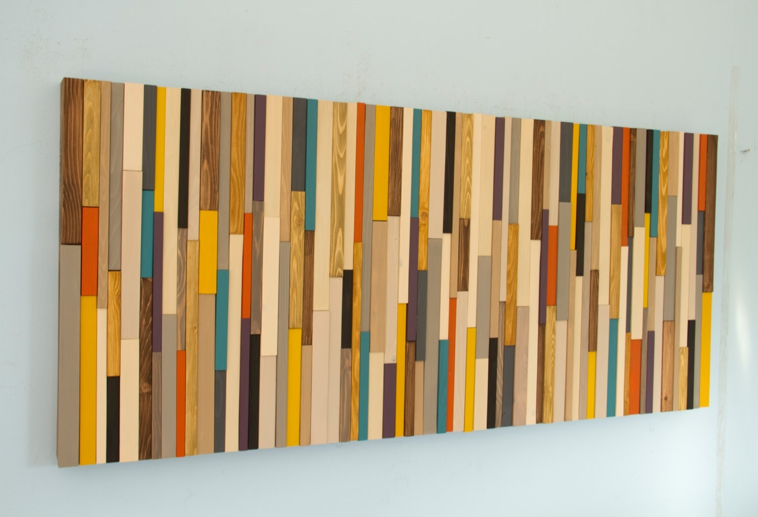 Mid Century Wall Art, Reclaimed Wood Art Sculpture, Painted Wood Regarding Current Mid Century Wall Art (View 10 of 20)