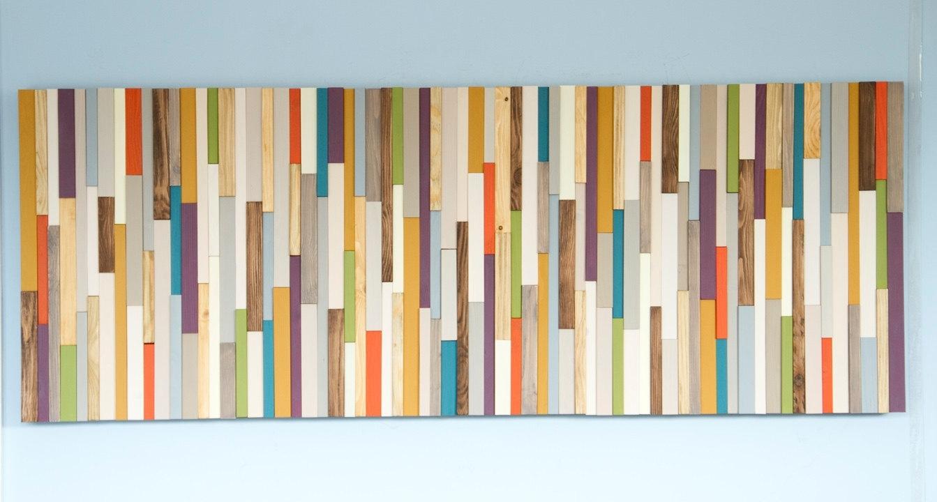Mid Century Wood Wall Art Mid Century Wall Art, Reclaimed Wood Art With Regard To Recent Mid Century Wall Art (View 12 of 20)