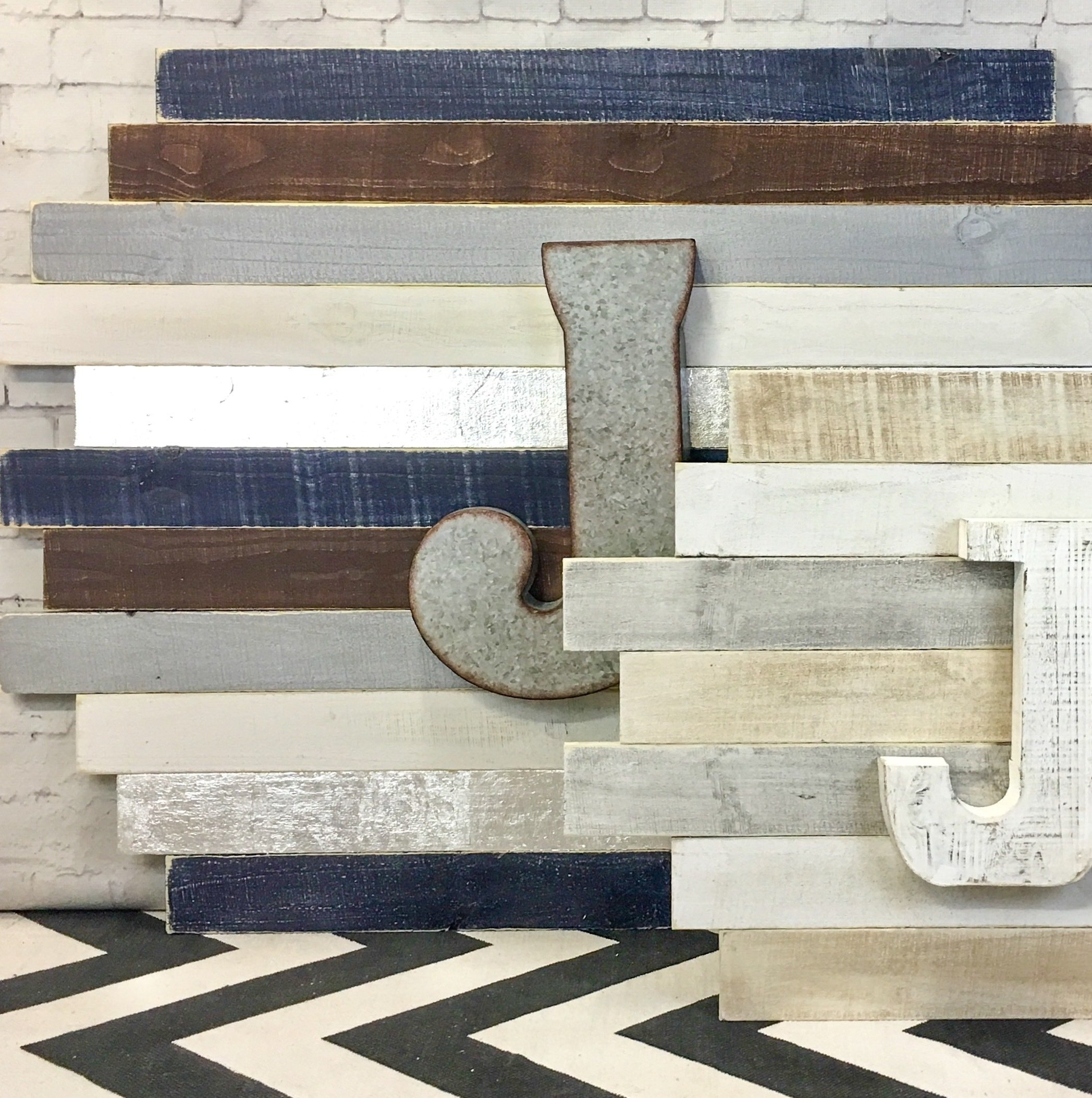 Mini Staggered Plank Wall Art   Hand Painted Signs & Art   Shop With Regard To Most Popular Plank Wall Art (View 11 of 20)