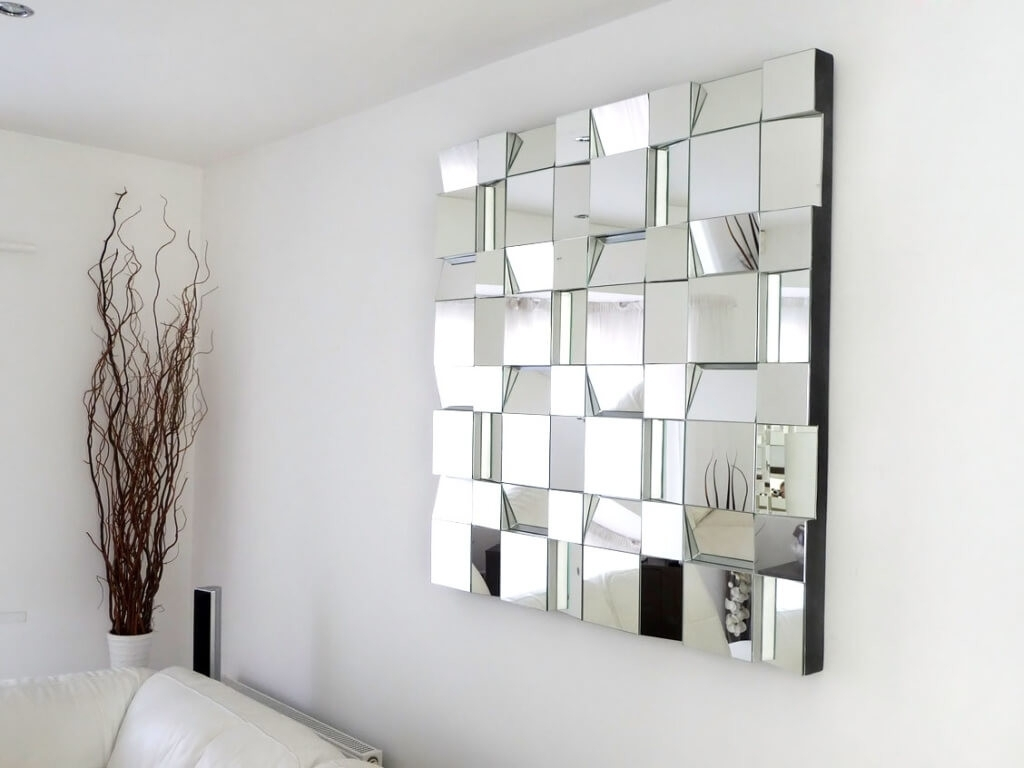 Mirrored Wall Art Mosaic : Gretabean – Mirrored Wall Art Harmonic Inside Most Popular Mirror Mosaic Wall Art (View 16 of 20)