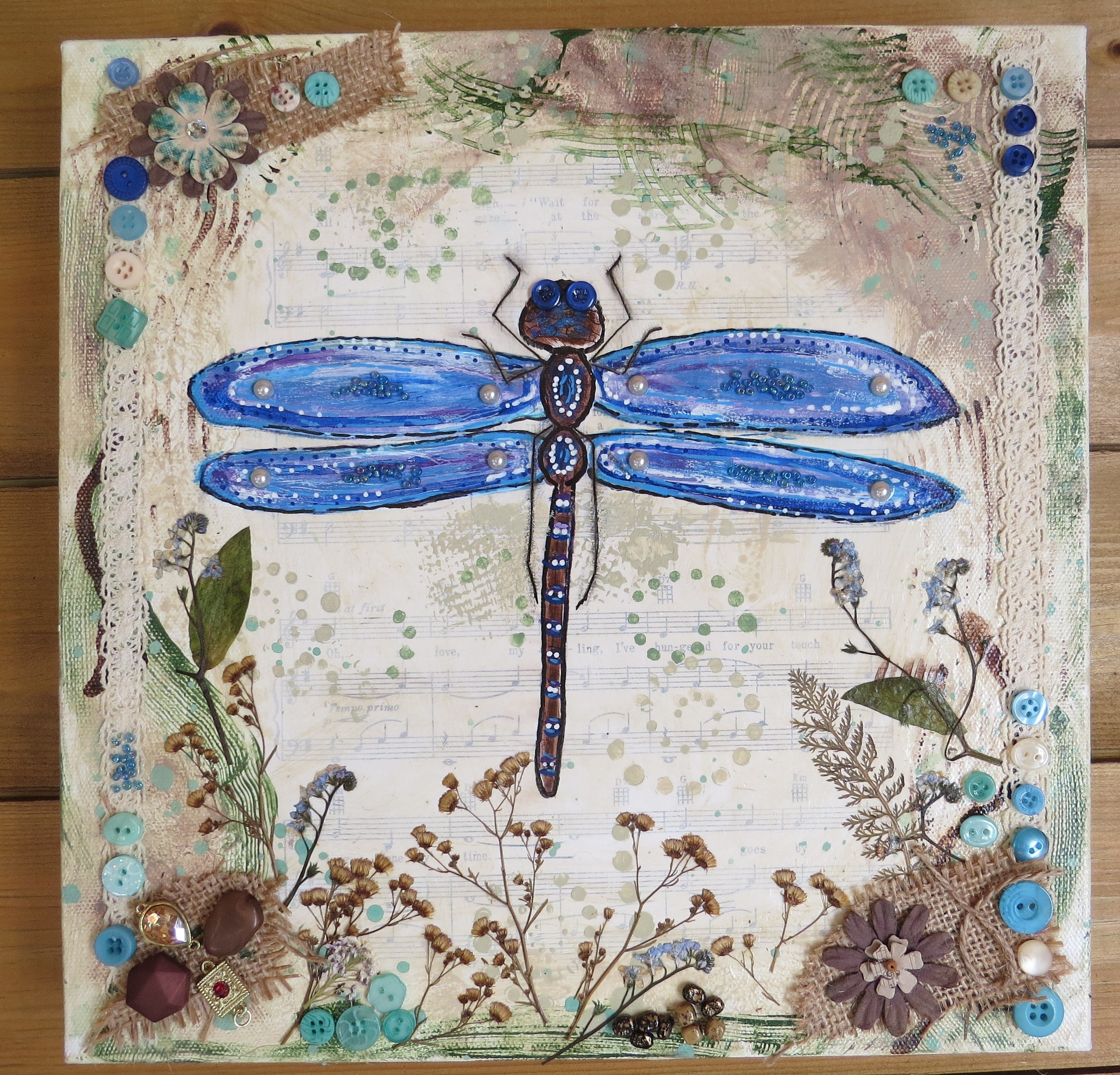 Mixed Media Art – Kristah Price In Most Recent Dragonfly Painting Wall Art (View 8 of 20)