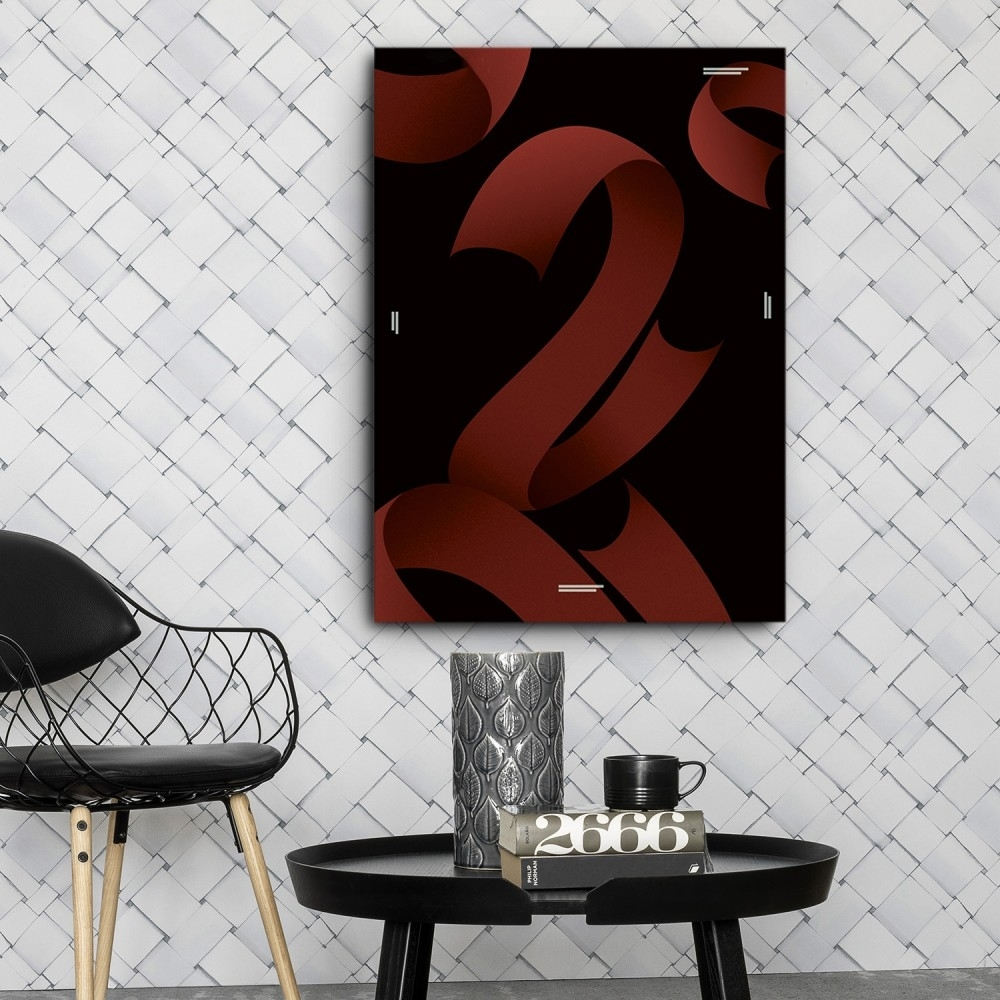 Mod Made Red Ribbons Canvas Wall Art With Most Up To Date Tile Canvas Wall Art (View 13 of 20)