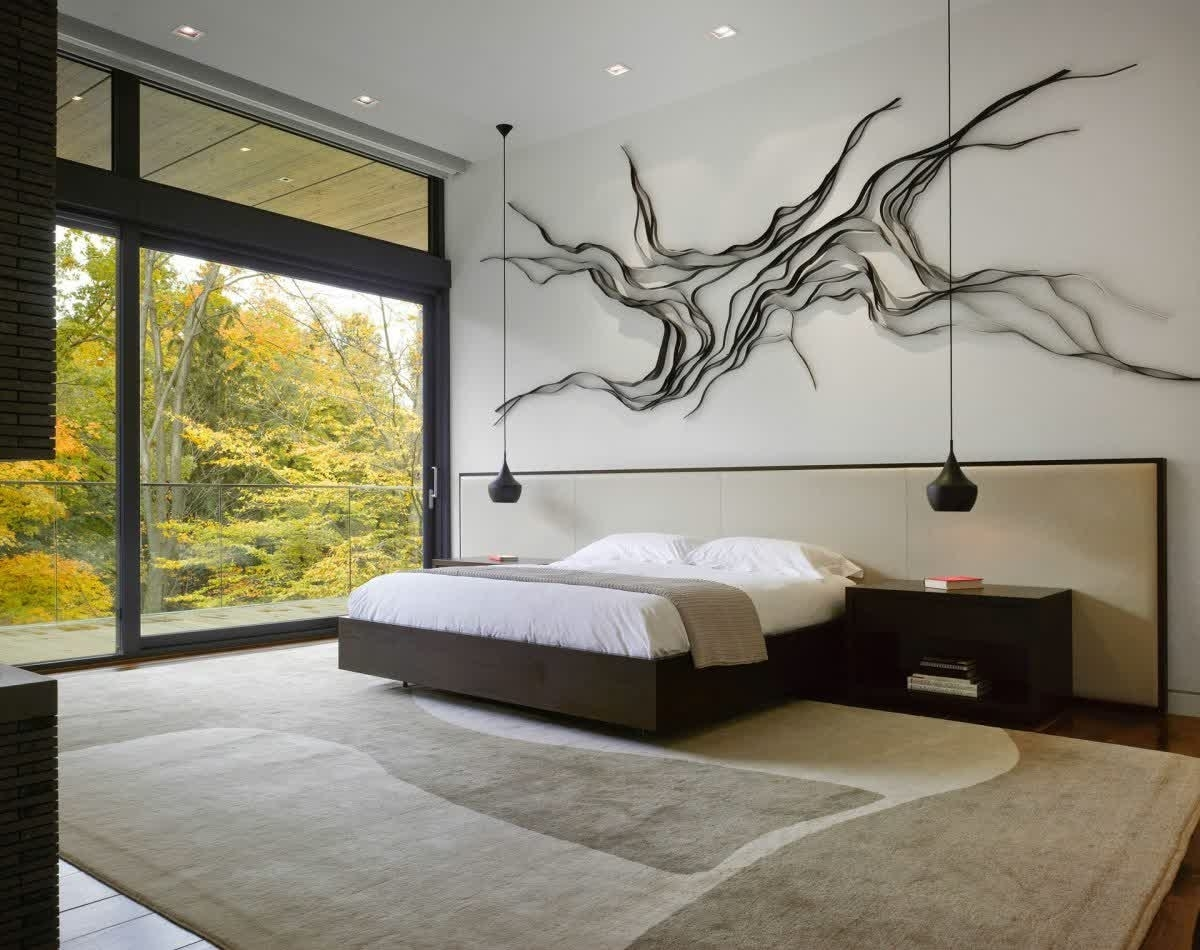 Modern Bedroom Wall Decor With Wall Art • Recous With Regard To Most Up To Date Wall Art For Bedroom (View 8 of 15)