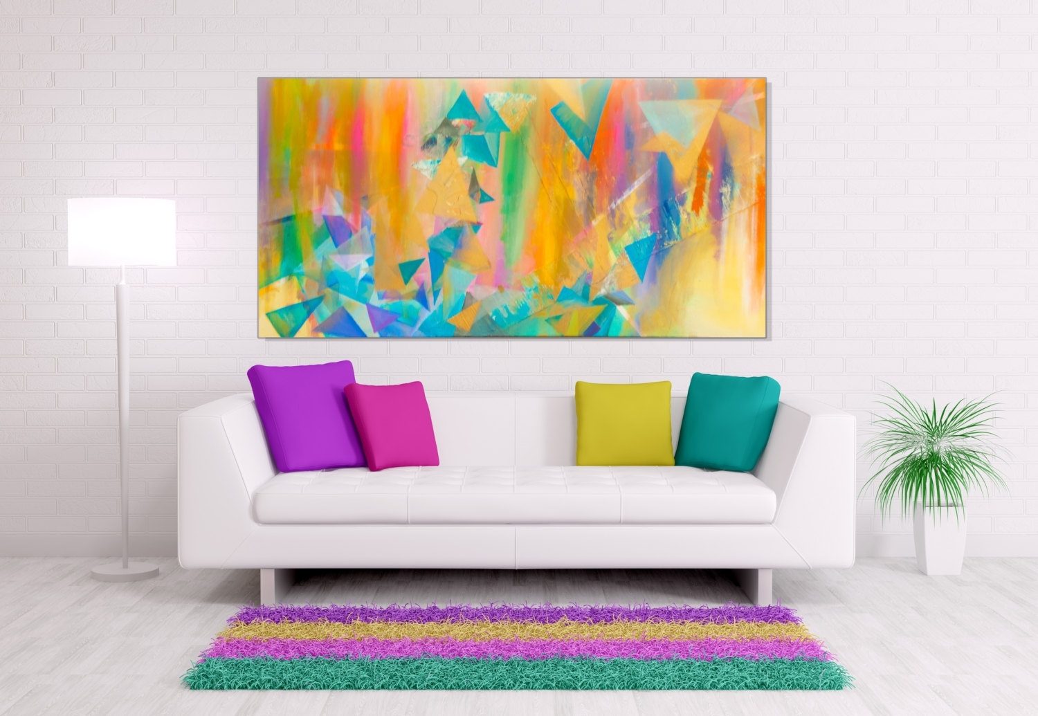 Modern Canvas Wall Art Bright : Andrews Living Arts – Modern Canvas Throughout Most Popular Modern Large Canvas Wall Art (View 12 of 20)