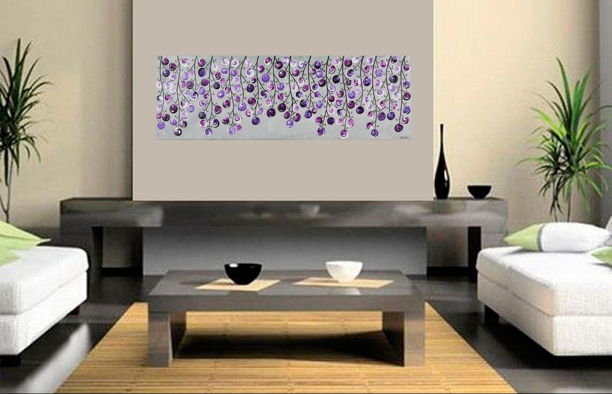 Modern Canvas Wall Art Lavender : Andrews Living Arts – Modern With Regard To Recent Purple And Grey Wall Art (View 4 of 20)