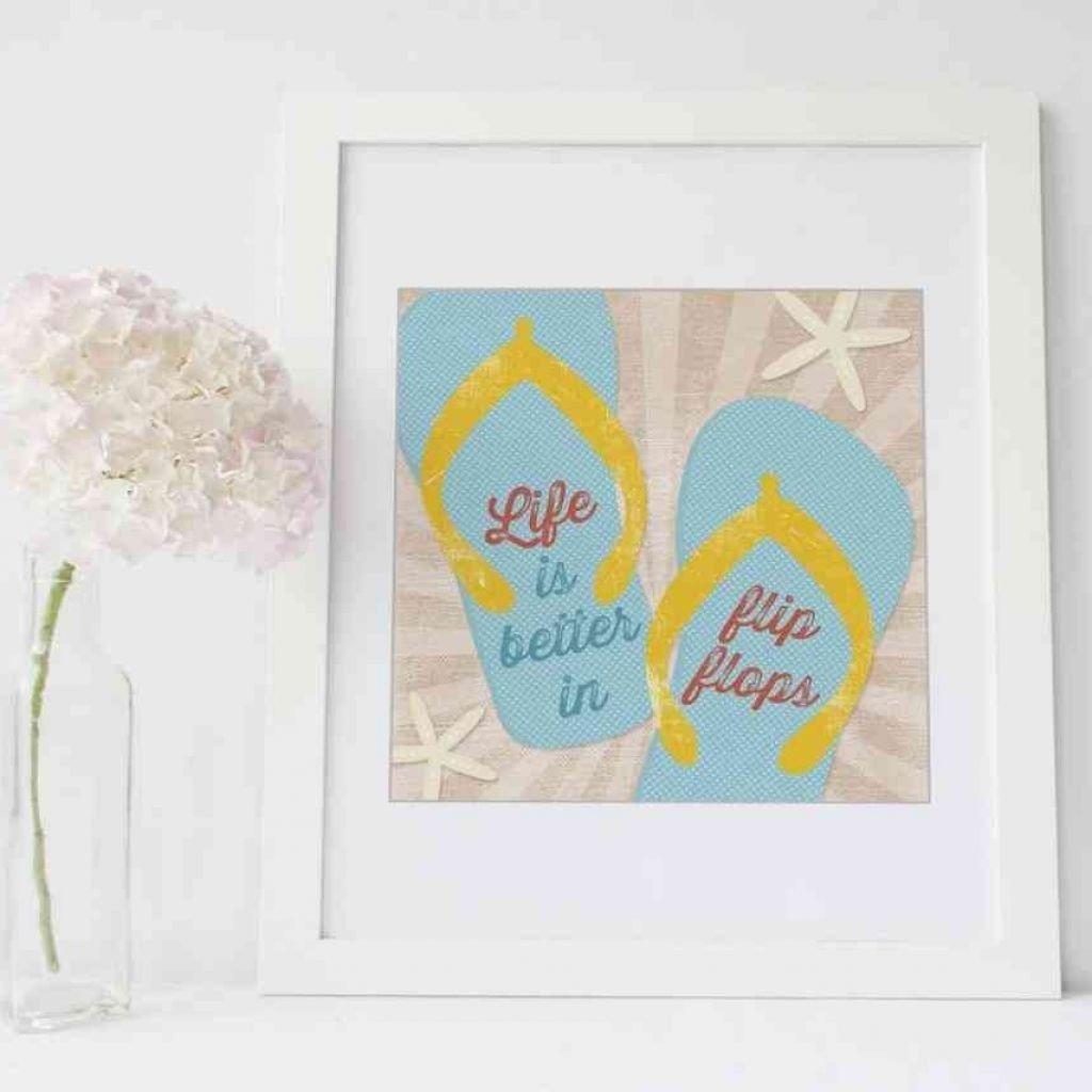 Modern Flip Flop Wall Decor Ensign Wall Art And Decor Ideas For Flip Pertaining To Newest Flip Flop Wall Art (View 12 of 15)