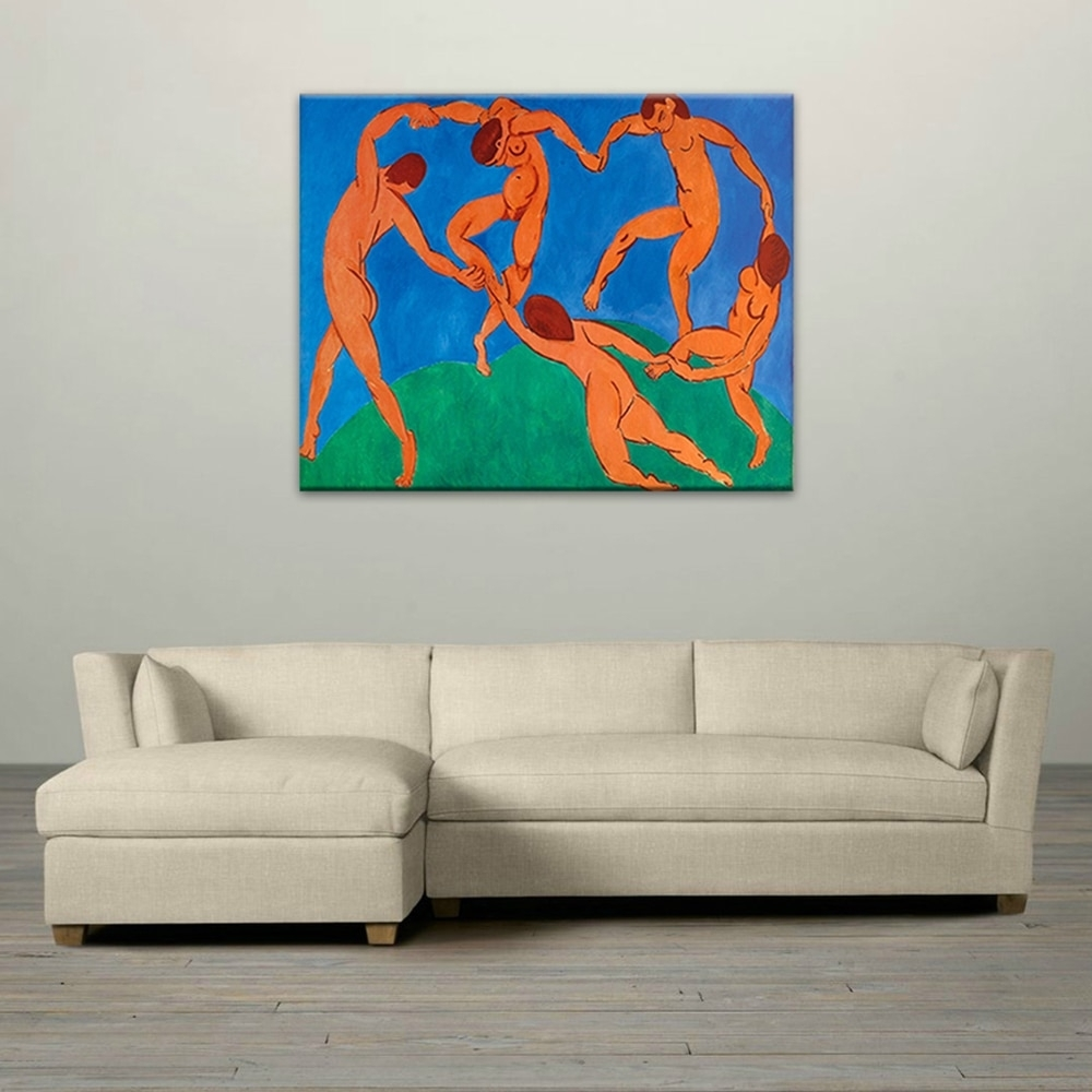 Modern Hand Painted Wall Art Decals Nude Naked Dancing Men Oil With Regard To Newest Wall Art For Men (View 7 of 15)