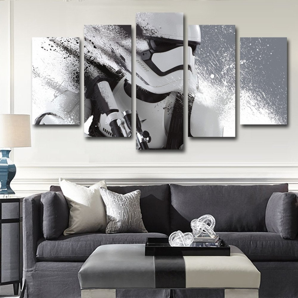 Modern Ixxi Star Wars Stormtrooper Darth Vader Wall Art Star Wars Within 2017 Star Wars Wall Art (View 11 of 15)