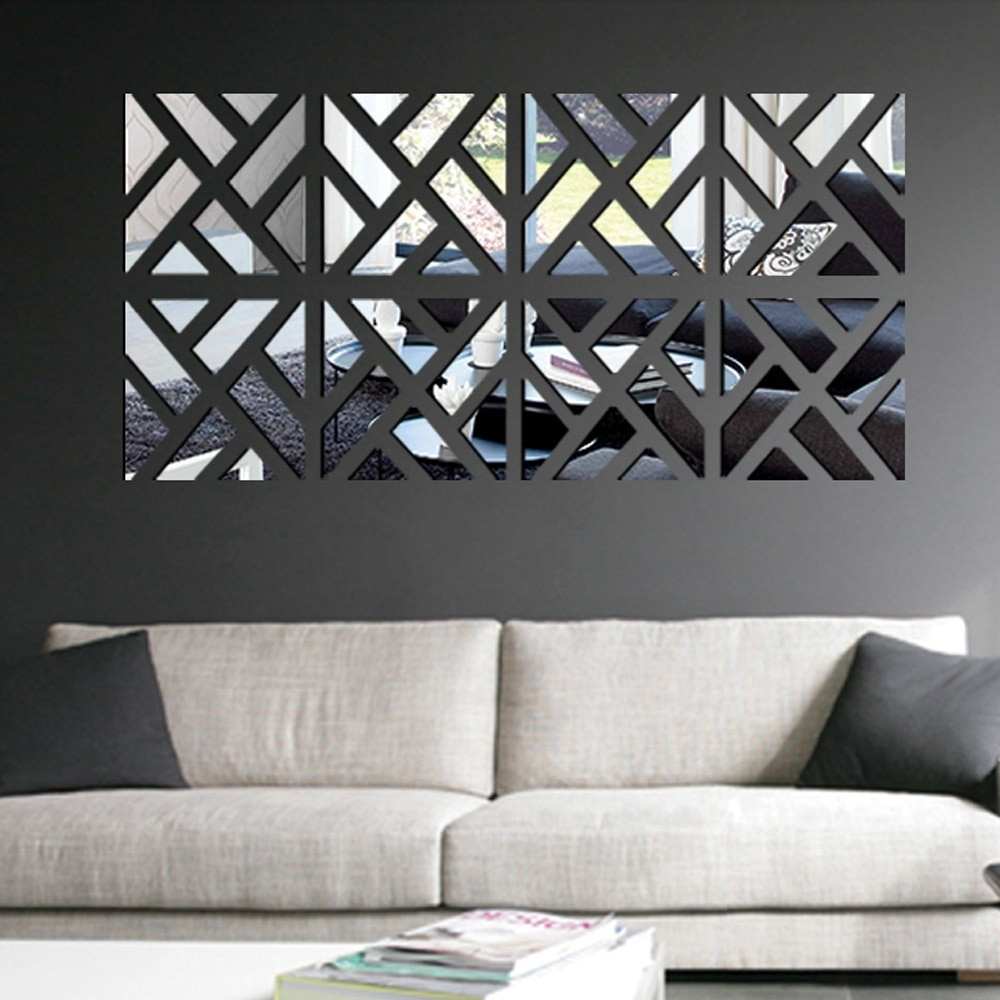 Modern Mirror Stick Diy Acrylic Removable Mirror Stick Wall Art With 2018 Stick On Wall Art (View 7 of 20)