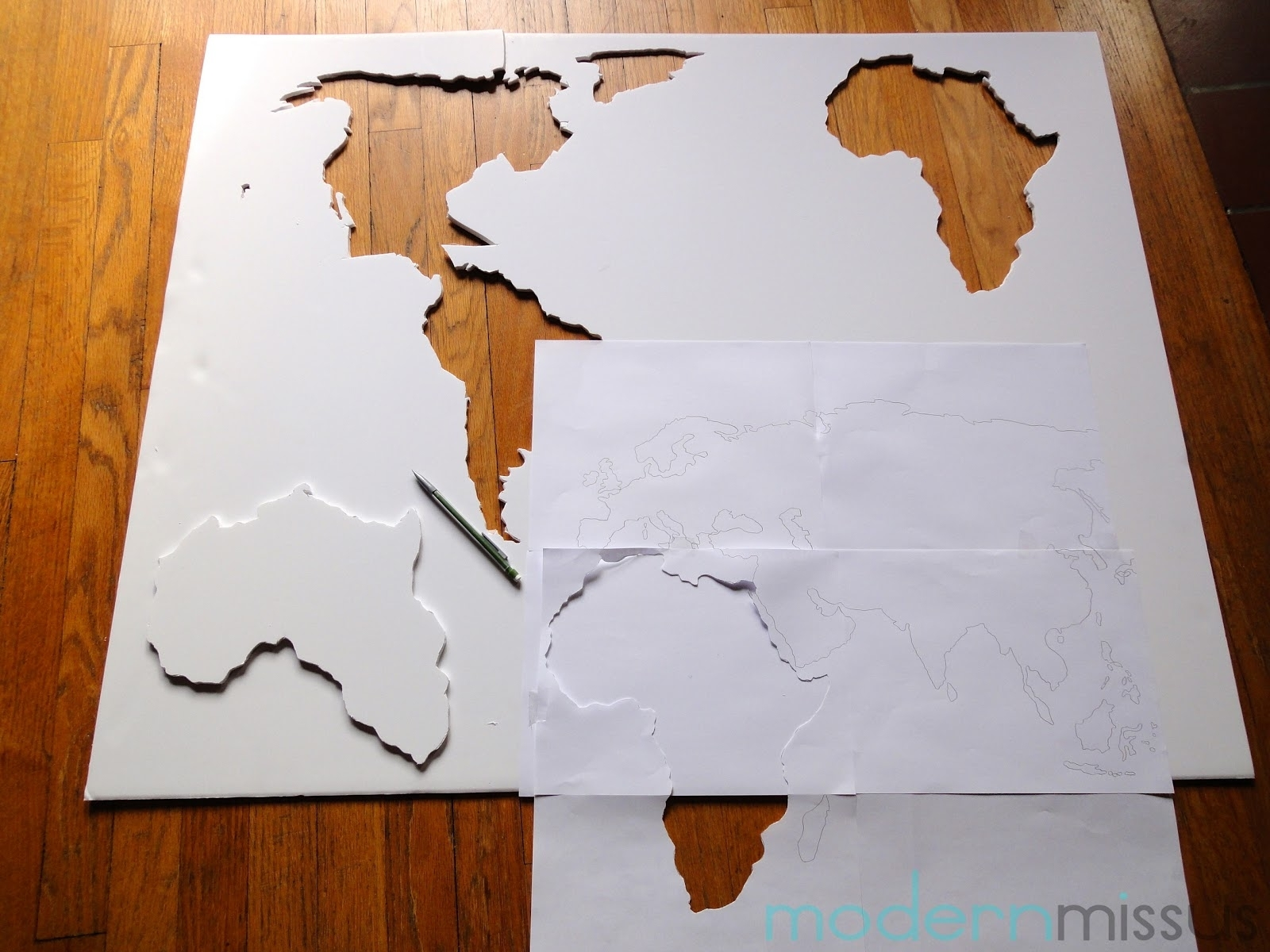 Modern Missus: Diy World Map Wall Art In Most Recently Released Diy World Map Wall Art (View 2 of 20)