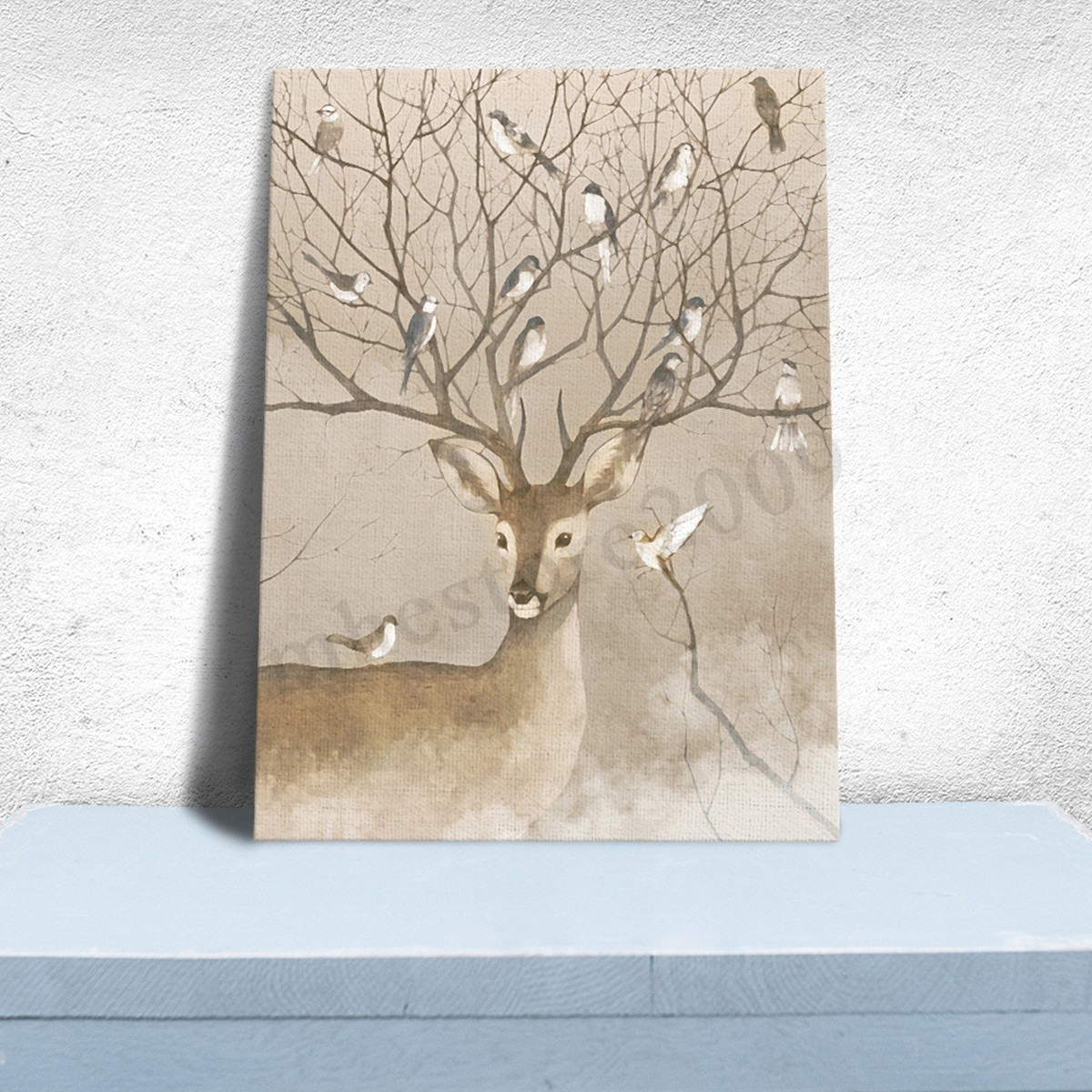 Modern Unframed Canvas Print Deer Home Decor Living Bedroom Mural For 2017 Home Decor Wall Art (View 11 of 20)