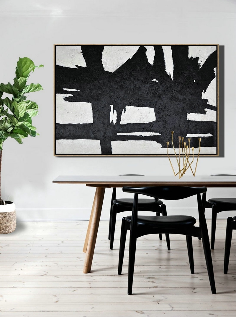 Modern Wall Art,hand Painted Oversized Horizontal Minimal Art On For 2018 Horizontal Wall Art (Gallery 12 of 20)