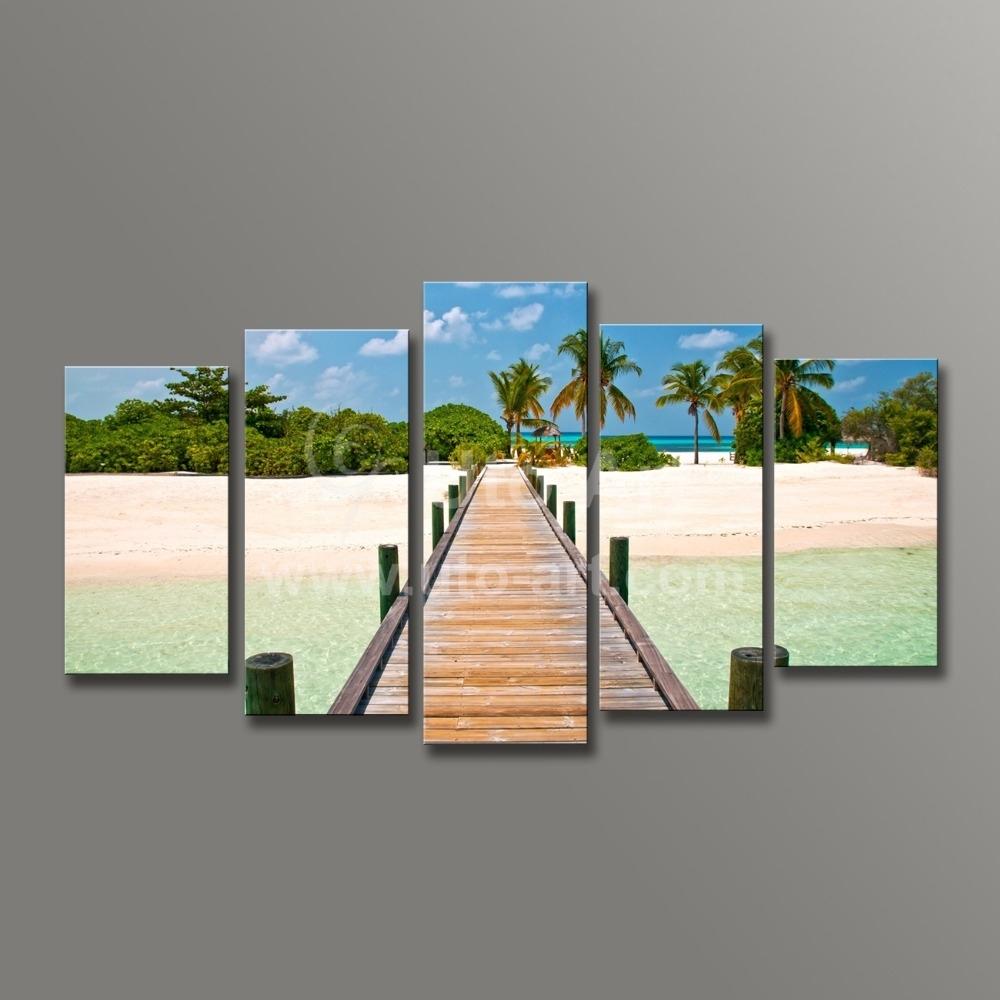 Modern Wall Decoration Painting Seascape 5 Piece Canvas Art Ocean Regarding Most Current 5 Piece Wall Art (View 18 of 20)