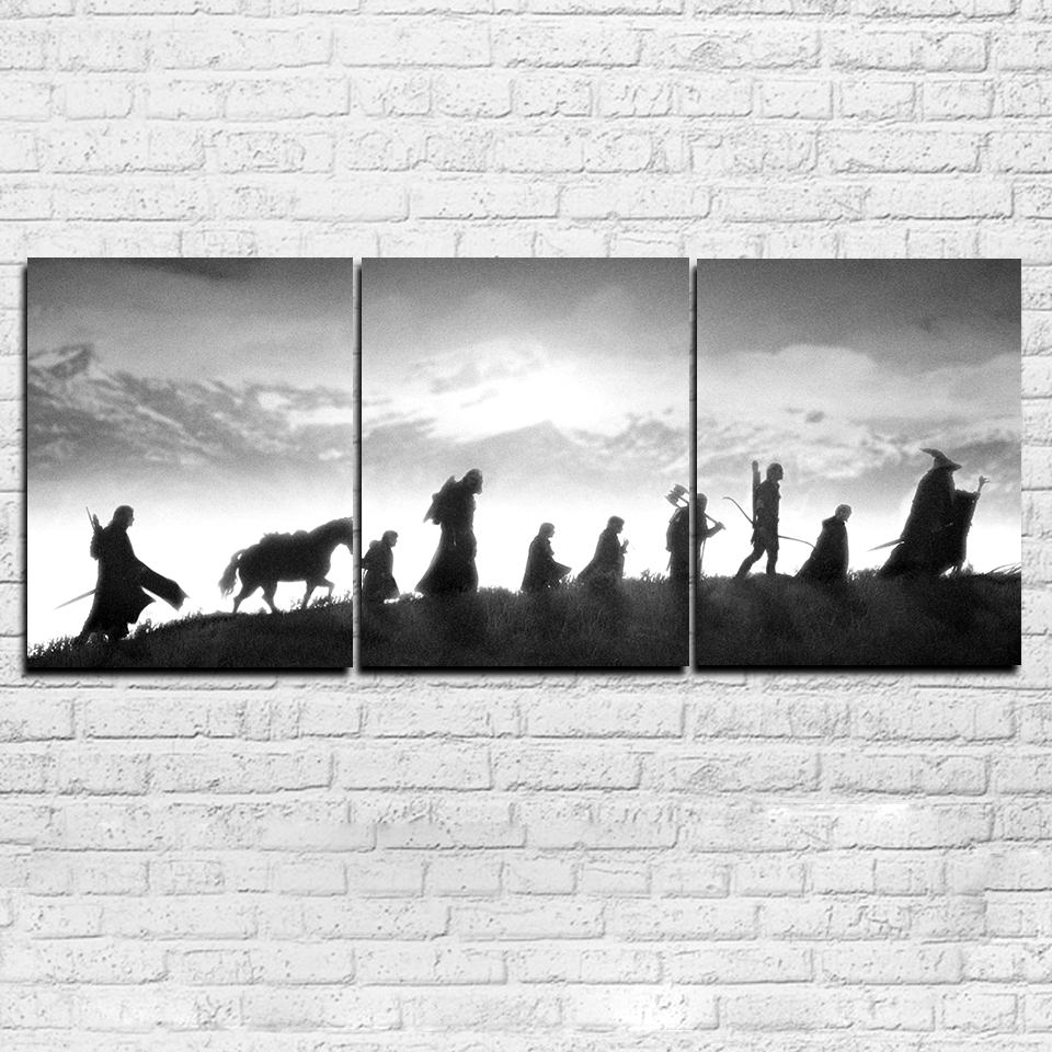 Modular Canvas Pictures Wall Art Living Room Decor Hd Prints 3 Throughout Most Current Lord Of The Rings Wall Art (View 9 of 20)