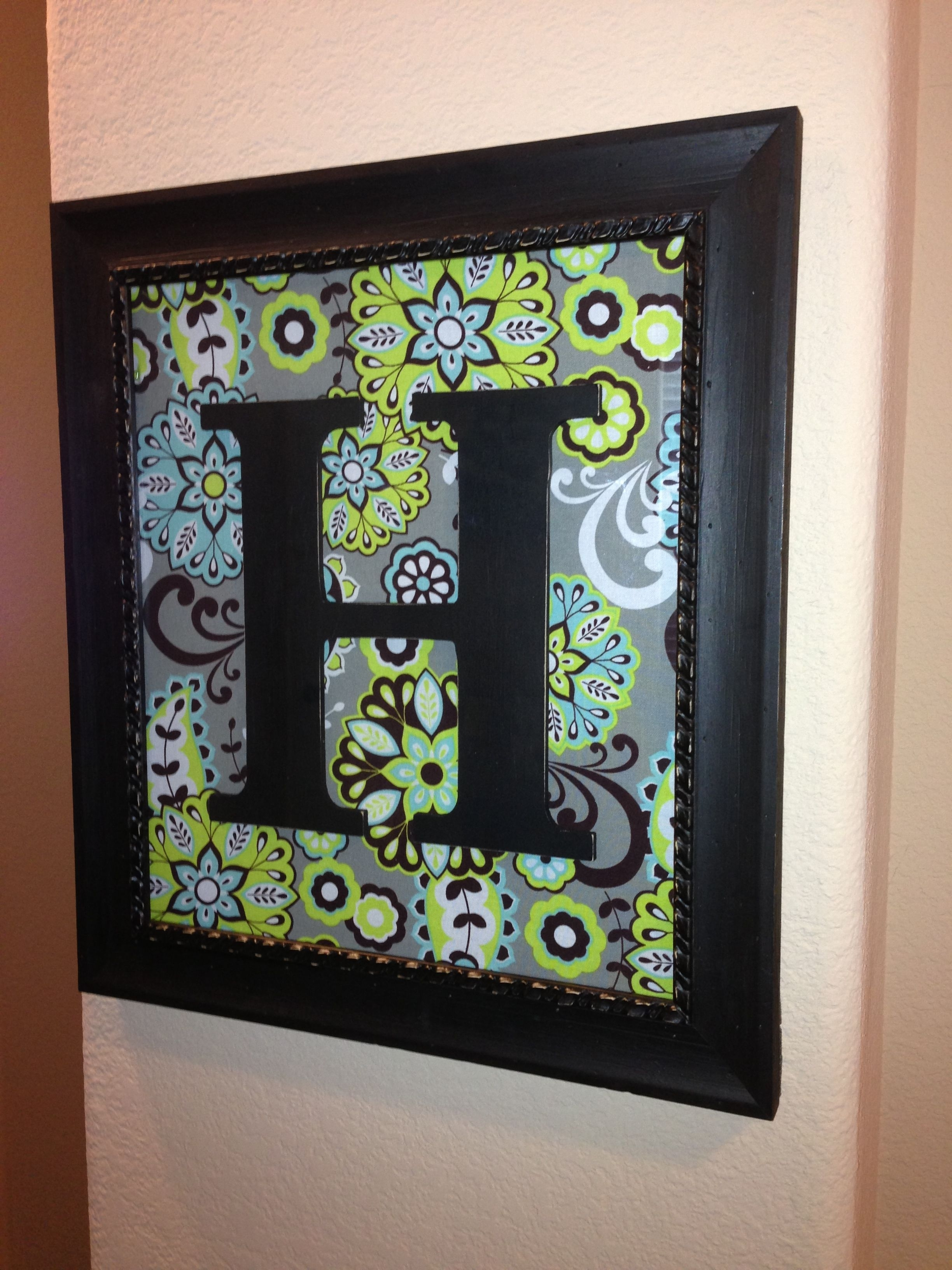 Monogram Initial Personalized Wooden Letter Wall Decoration Wall Art For Recent Letter Wall Art (View 9 of 20)