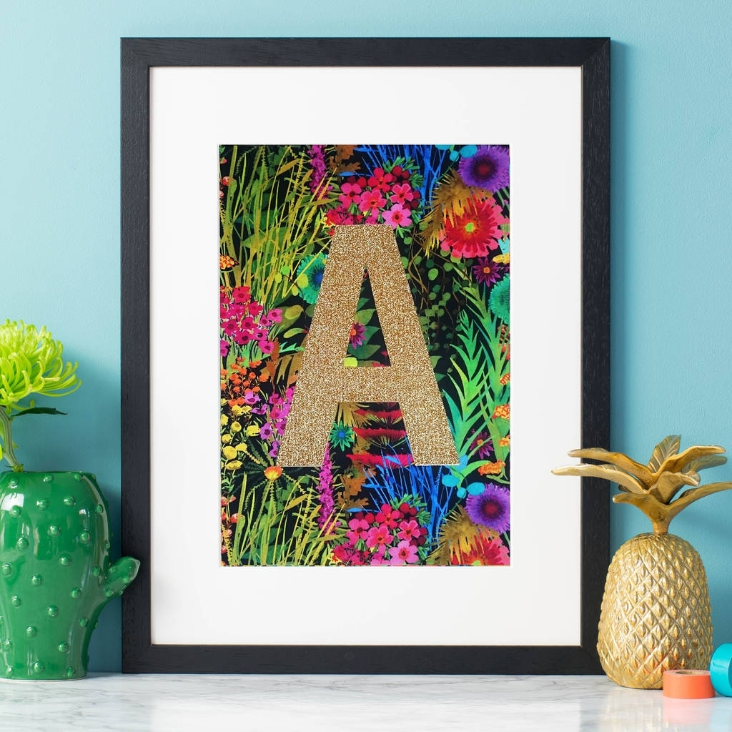Monogram Tropical Liberty Fabric Wall Artnickynackynoo With Regard To 2017 Tropical Wall Art (View 4 of 20)