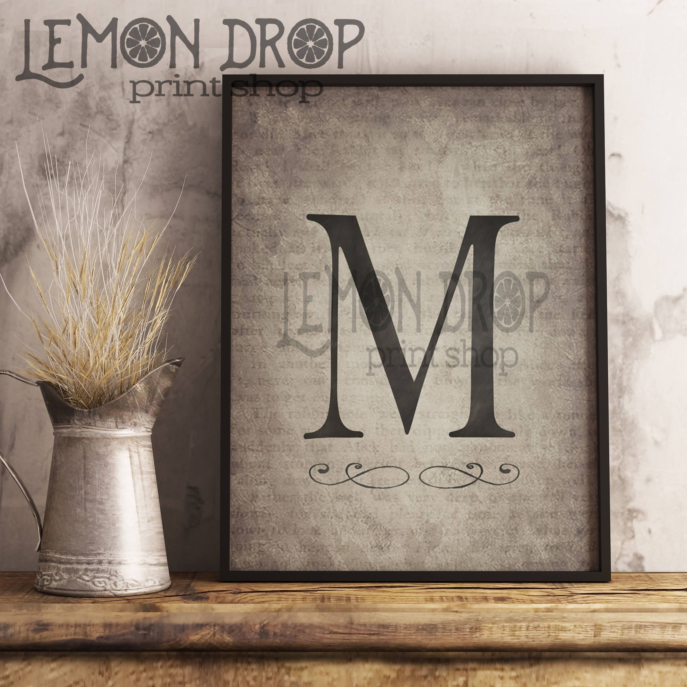 Monogram Wall Decor, Rustic Monogram, Last Name Wall Art, Farmhouse For Most Up To Date Monogram Wall Art (View 14 of 20)