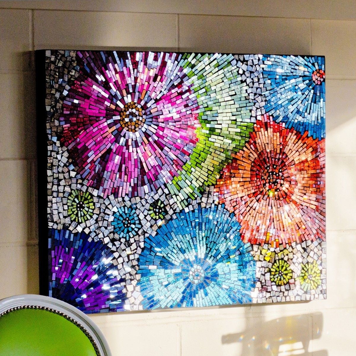 Mosaic Flower Wall | Mosaic | Pinterest | Mosaic Wall Art, Mosaics Regarding 2017 Mosaic Wall Art (Gallery 4 of 15)