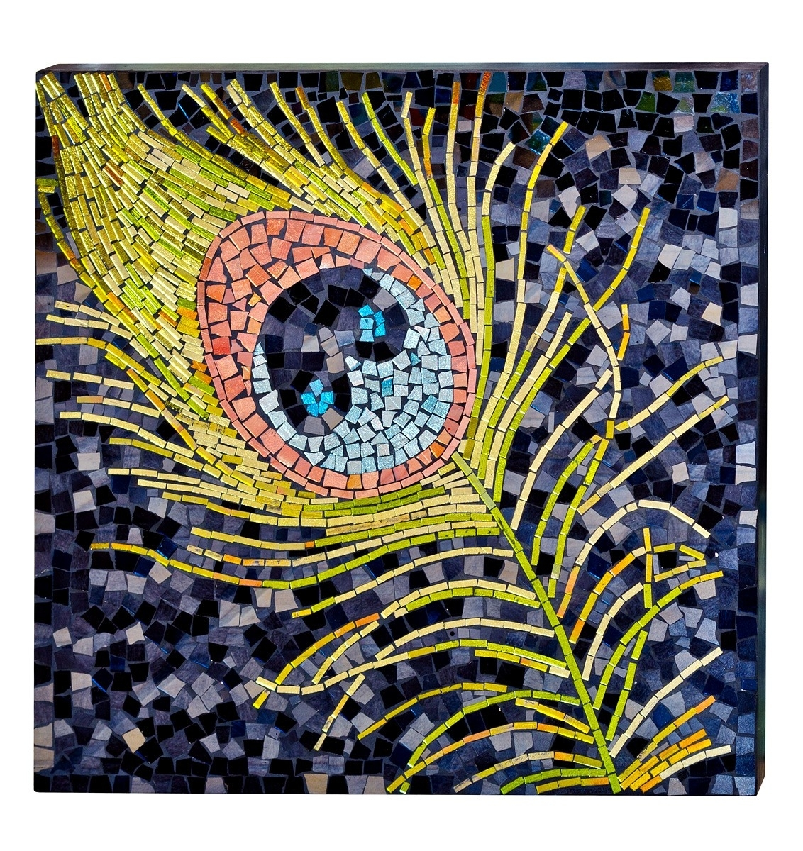 Mosaic Glass Peacock Wall Art – Be Fabulous! Pertaining To Newest Glass Wall Art (View 11 of 15)
