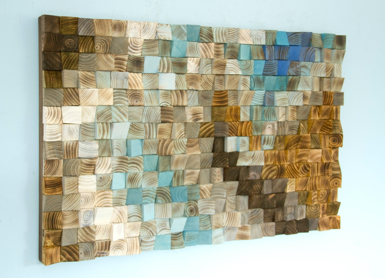 Mosaic Wall Art Elegant Wood Office Decor Geometric 24 X 36 Within With Newest Mosaic Wall Art (View 9 of 15)
