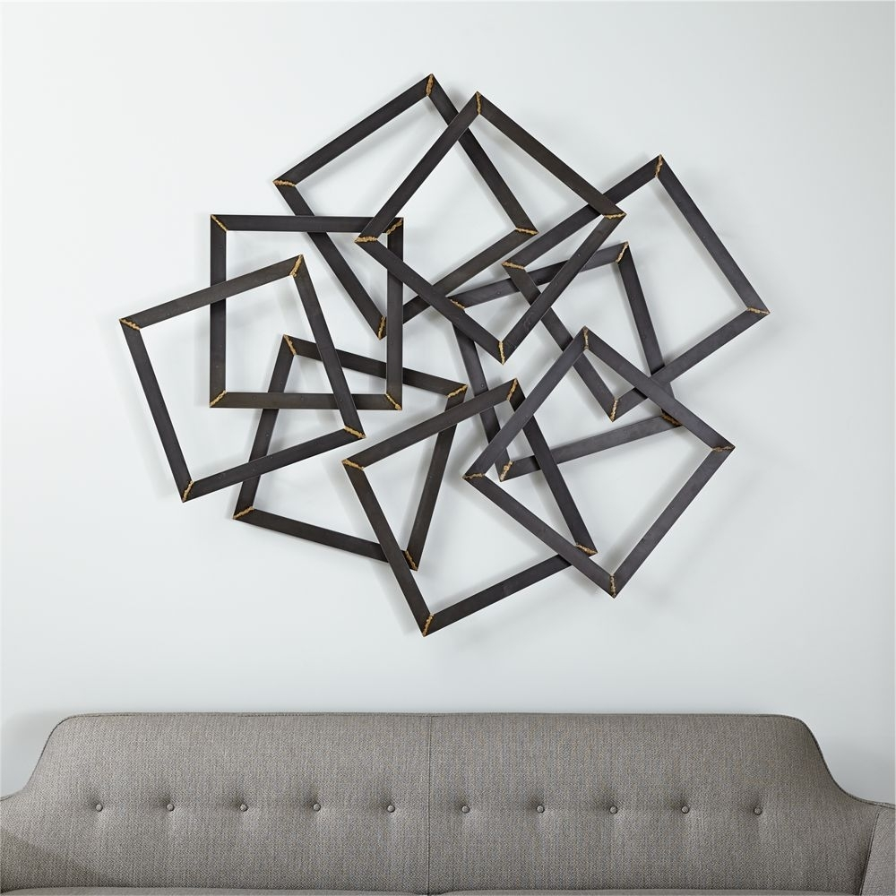 Multi Squares Wall Art – Crate And Barrel | Products | Pinterest Throughout Most Recently Released Crate And Barrel Wall Art (View 3 of 20)