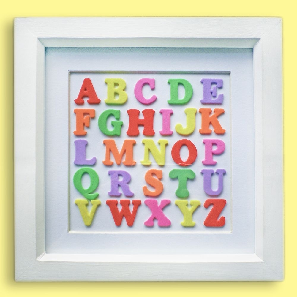Multicoloured Alphabet Wall Art (View 15 of 20)