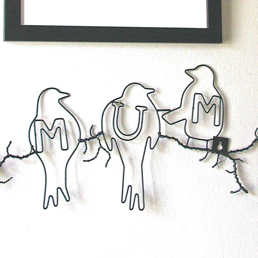 Mum Bird Wire Wall Artlondon Garden Trading | Notonthehighstreet Pertaining To Latest Birds On A Wire Wall Art (View 17 of 20)