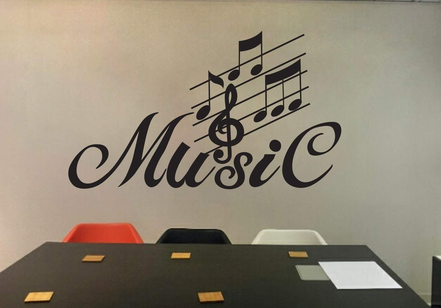 Music Wall Art Decal | Wall Decal | Wall Art Decal Sticker With Regard To Newest Music Wall Art (View 6 of 15)