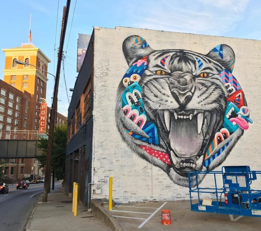Must See Wall Murals In Atlanta | Atl Bucket List For Most Recently Released Graffiti Wall Art (View 20 of 20)