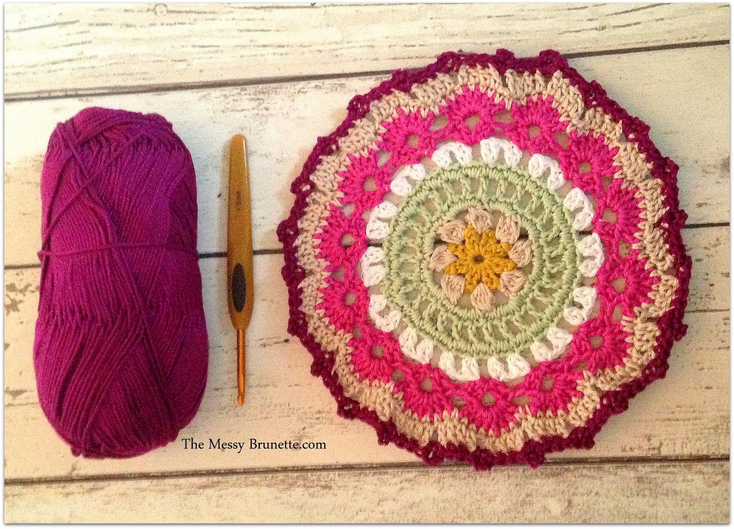 My Crochet Mandala Wall Art – The Messy Brunette In Newest Crochet Wall Art (View 6 of 20)