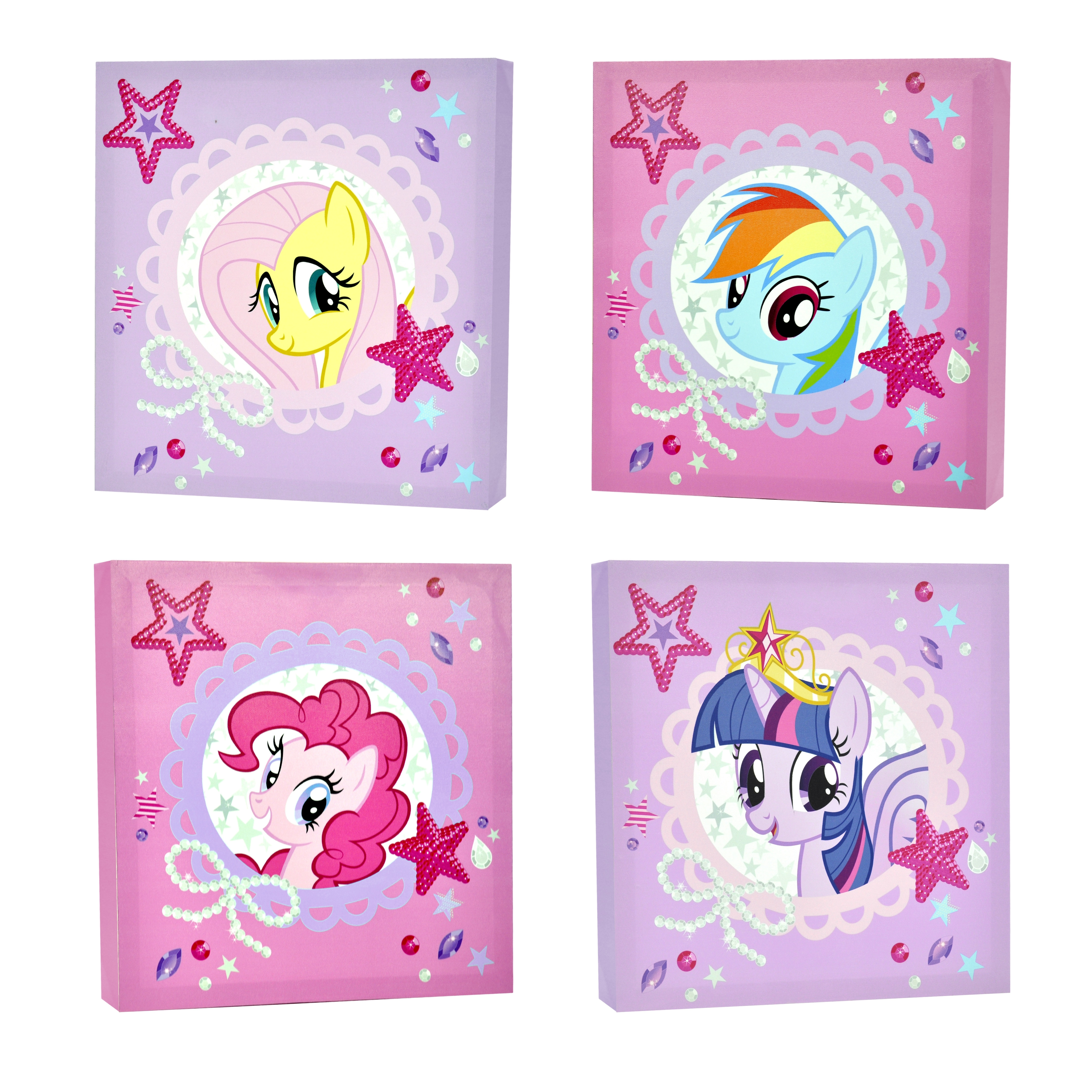 My Little Pony 4 Piece Canvas Wall Art – Walmart Pertaining To Newest My Little Pony Wall Art (Gallery 2 of 20)