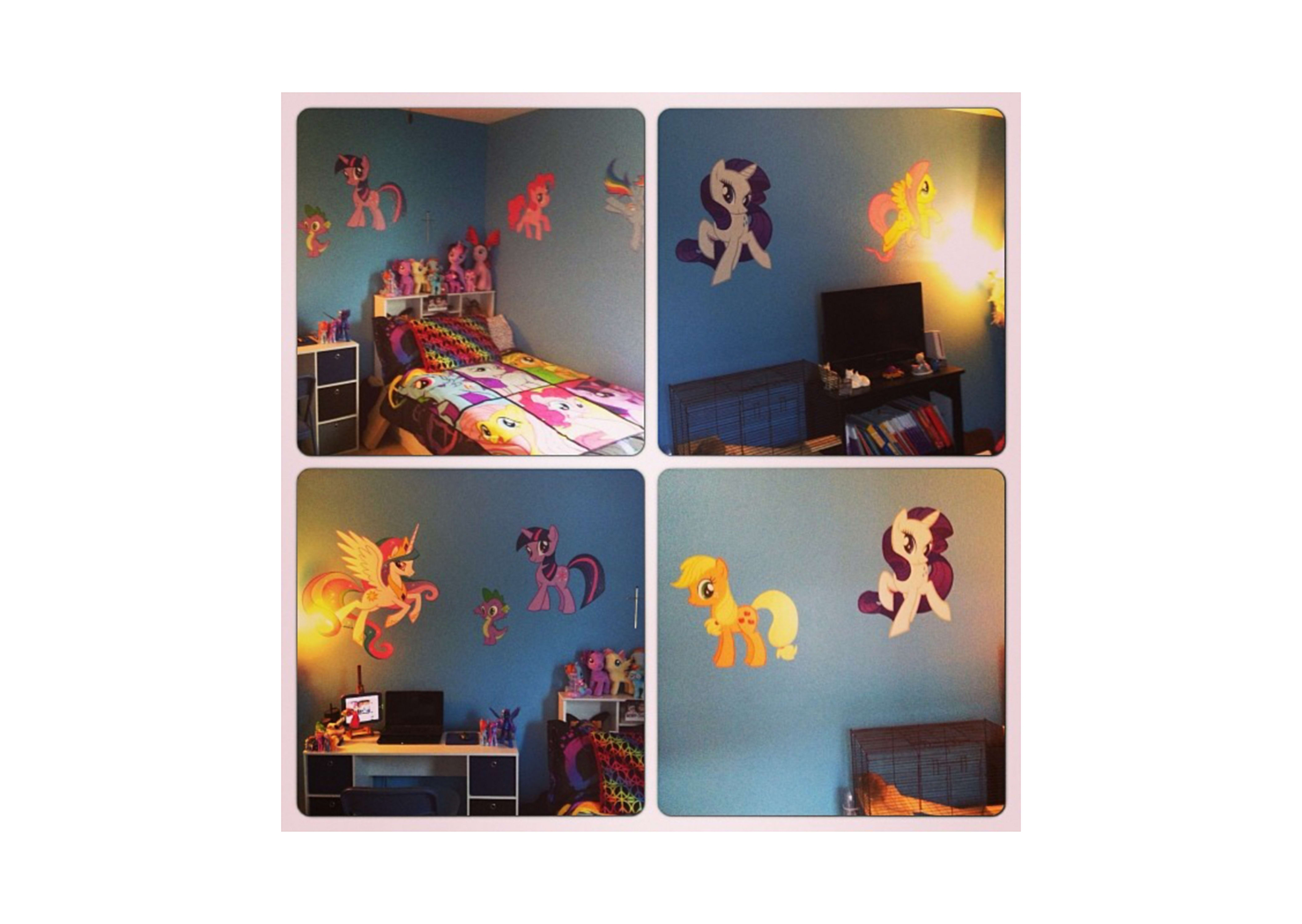 My Little Pony Collection – Large Officially Licensed Removable Wall Within Latest My Little Pony Wall Art (View 20 of 20)