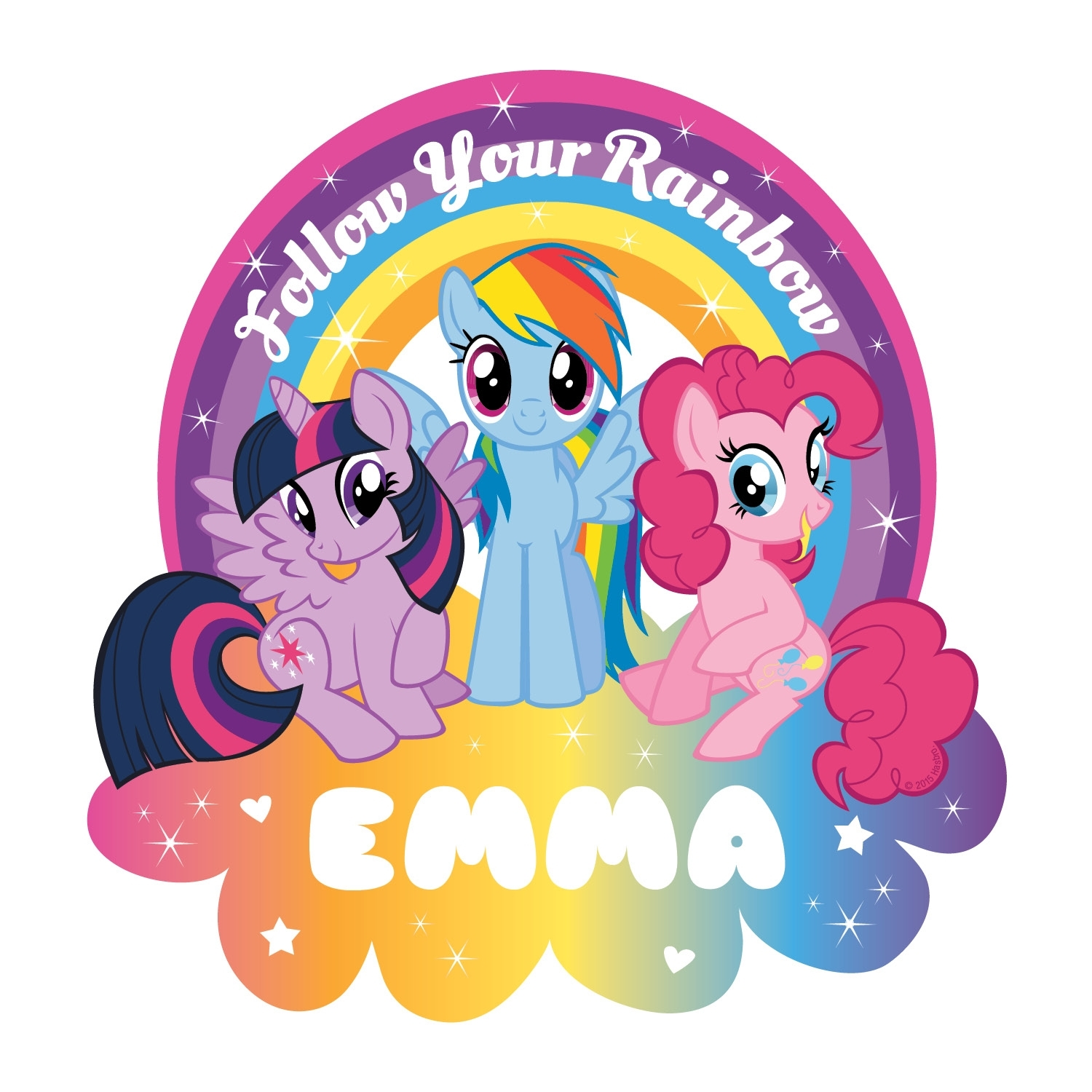 My Little Pony Follow Your Rainbow Easy Move Canvas Decal | Tv's Toy Box Intended For Most Current My Little Pony Wall Art (View 12 of 20)